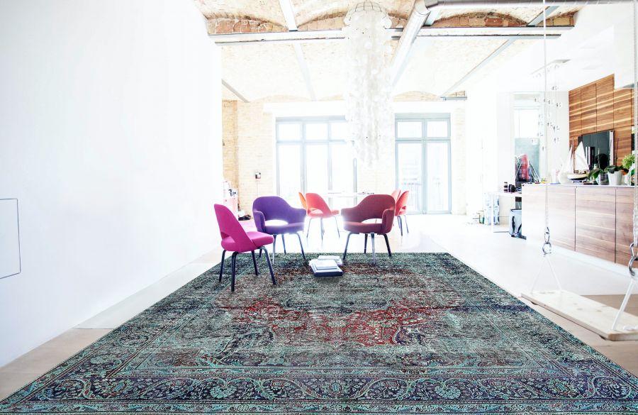 Perser Vintage Teppich grün