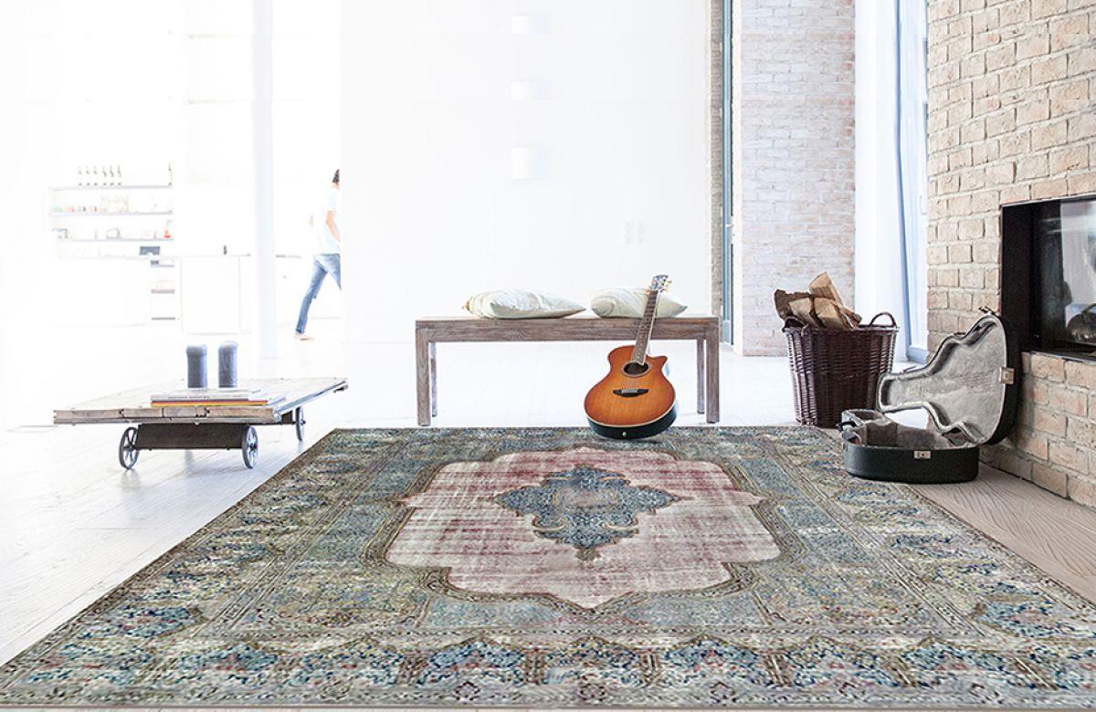 Kerman Persian Vintage Teppich