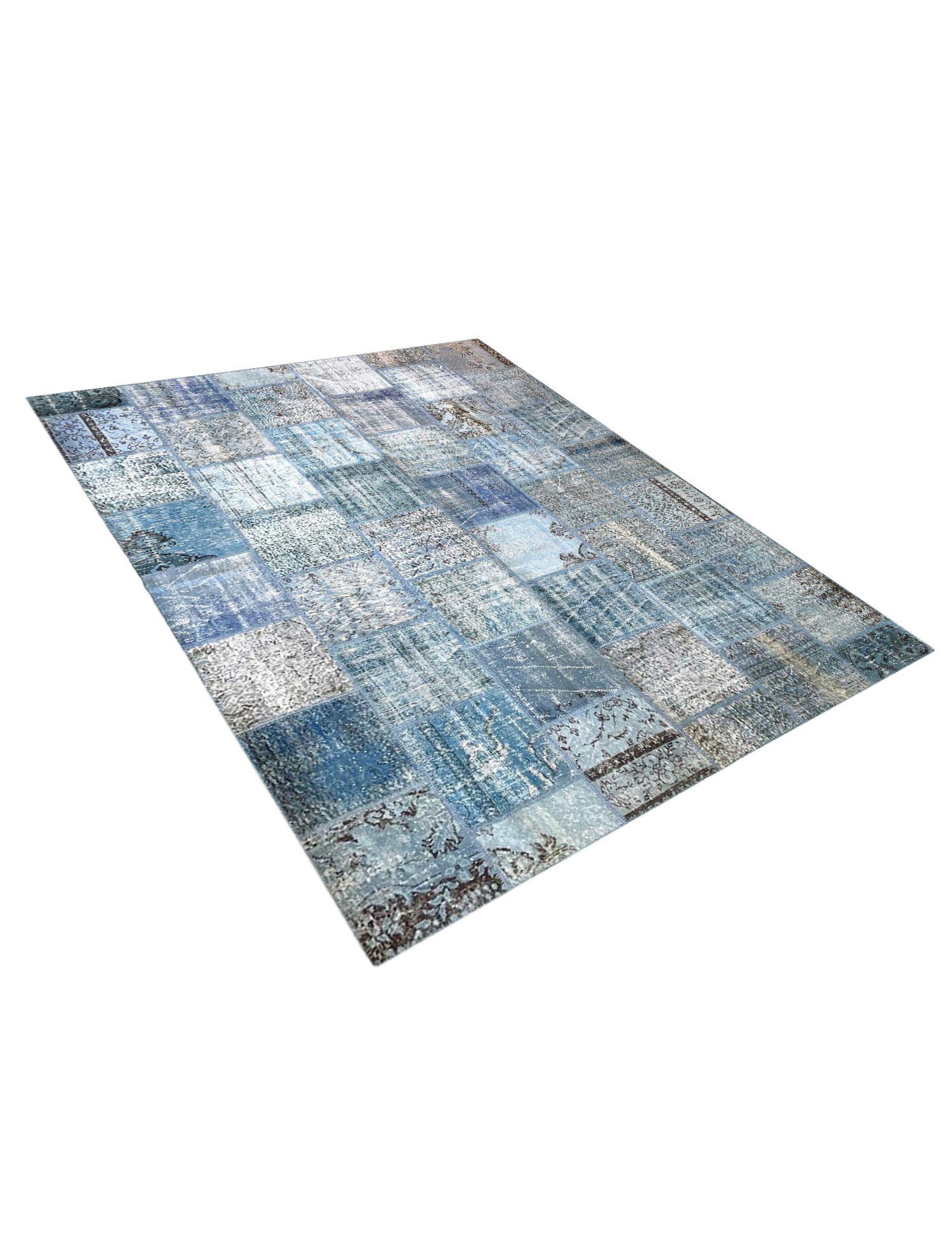 Patchwork Teppich   blau <br/>299 x 255 cm