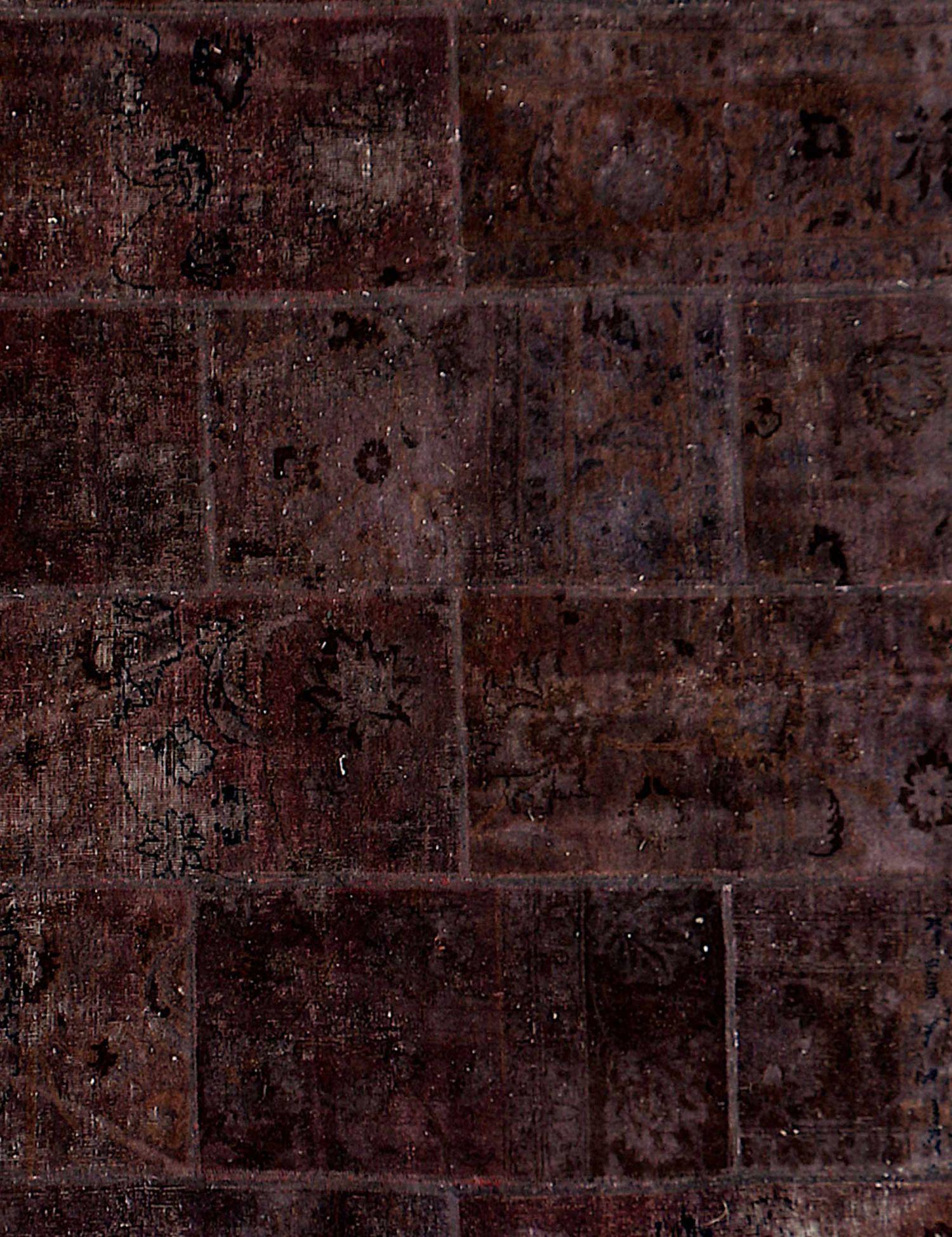 Patchwork Tapijt  bruin <br/>210 x 210 cm