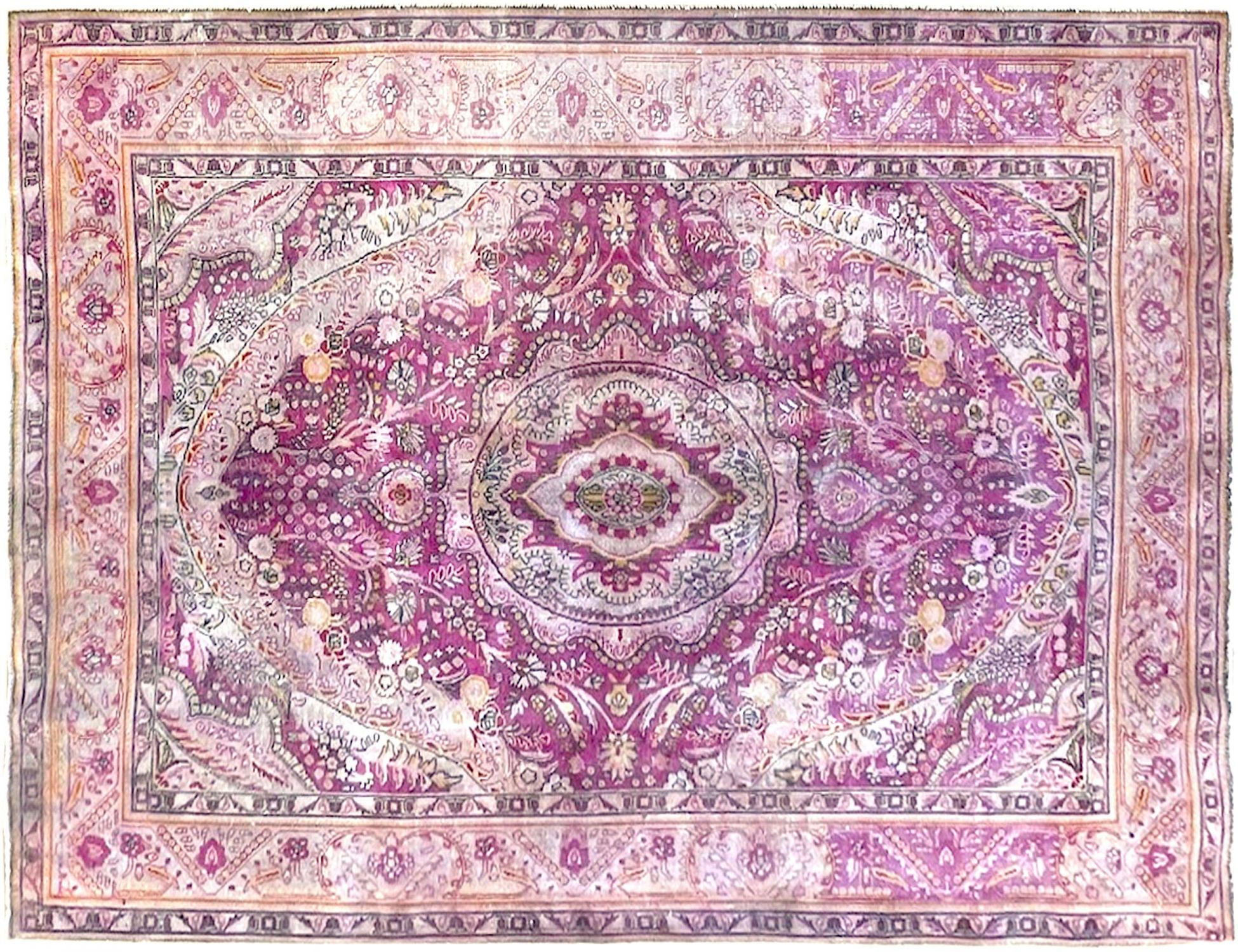 Perzisch Vintage Tapijt  purper <br/>287 x 206 cm