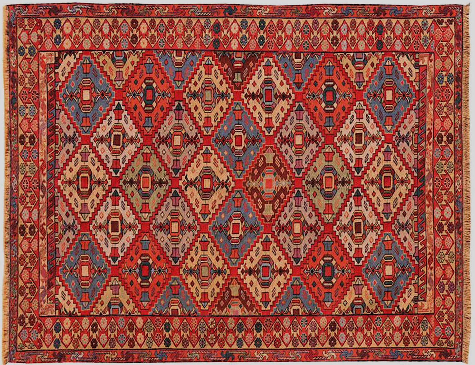 PERSIAN WOOL KILIMS    <br/>204 x 127 cm