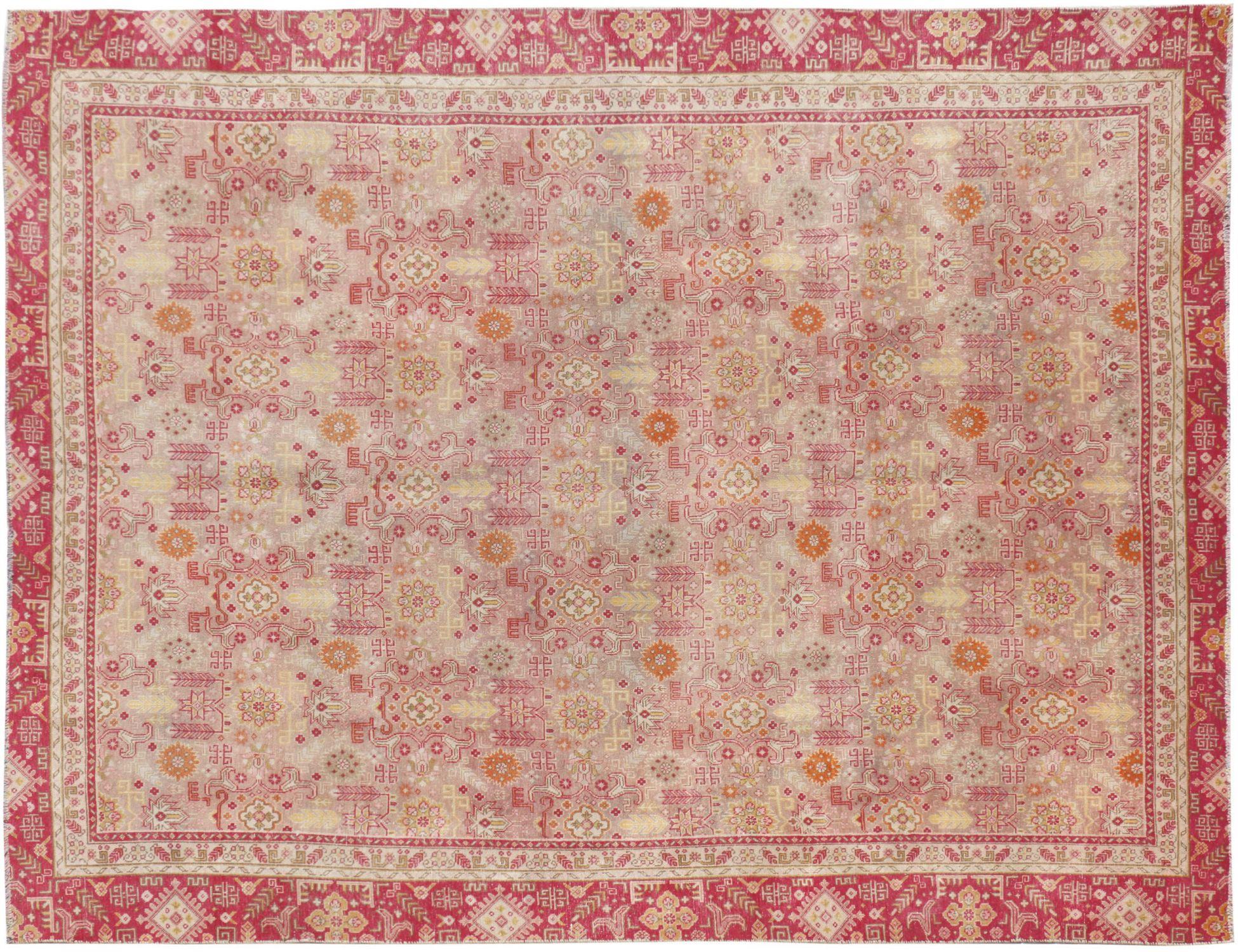 Persischer Vintage Teppich  beige <br/>346 x 257 cm