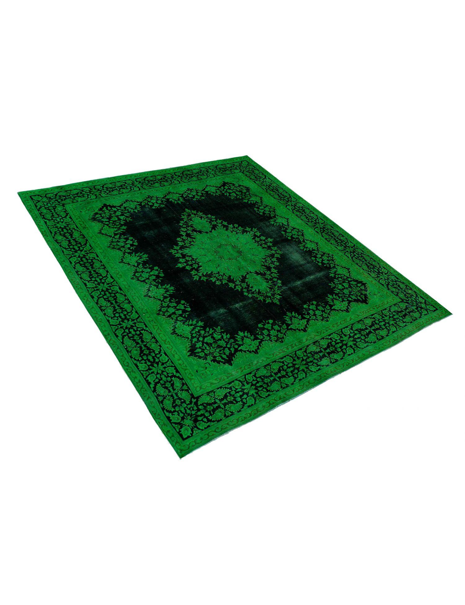 Vintagetæppe  grøn <br/>385 x 285 cm