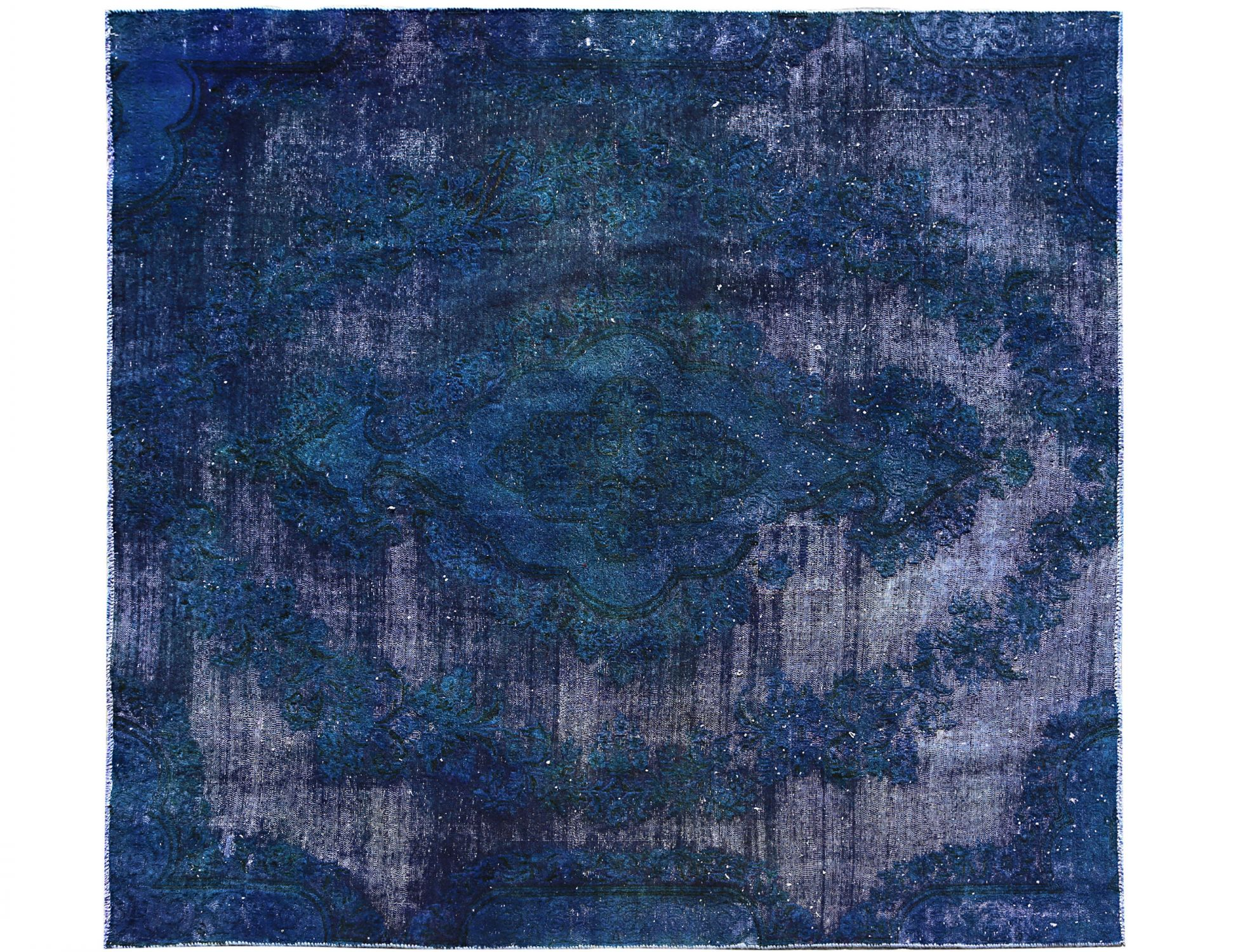 Tappeto Vintage  blu <br/>226 x 196 cm