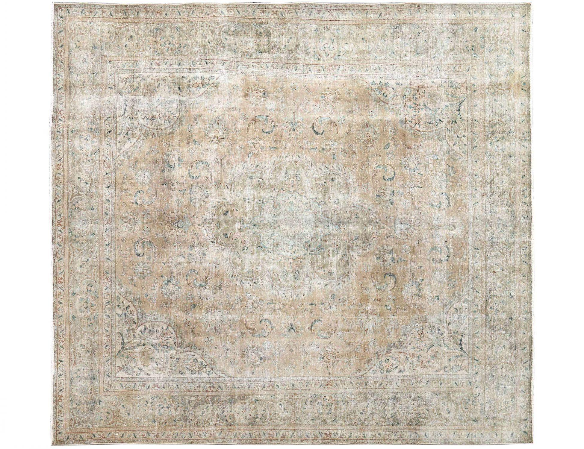 Retro Teppich  beige <br/>345 x 295 cm