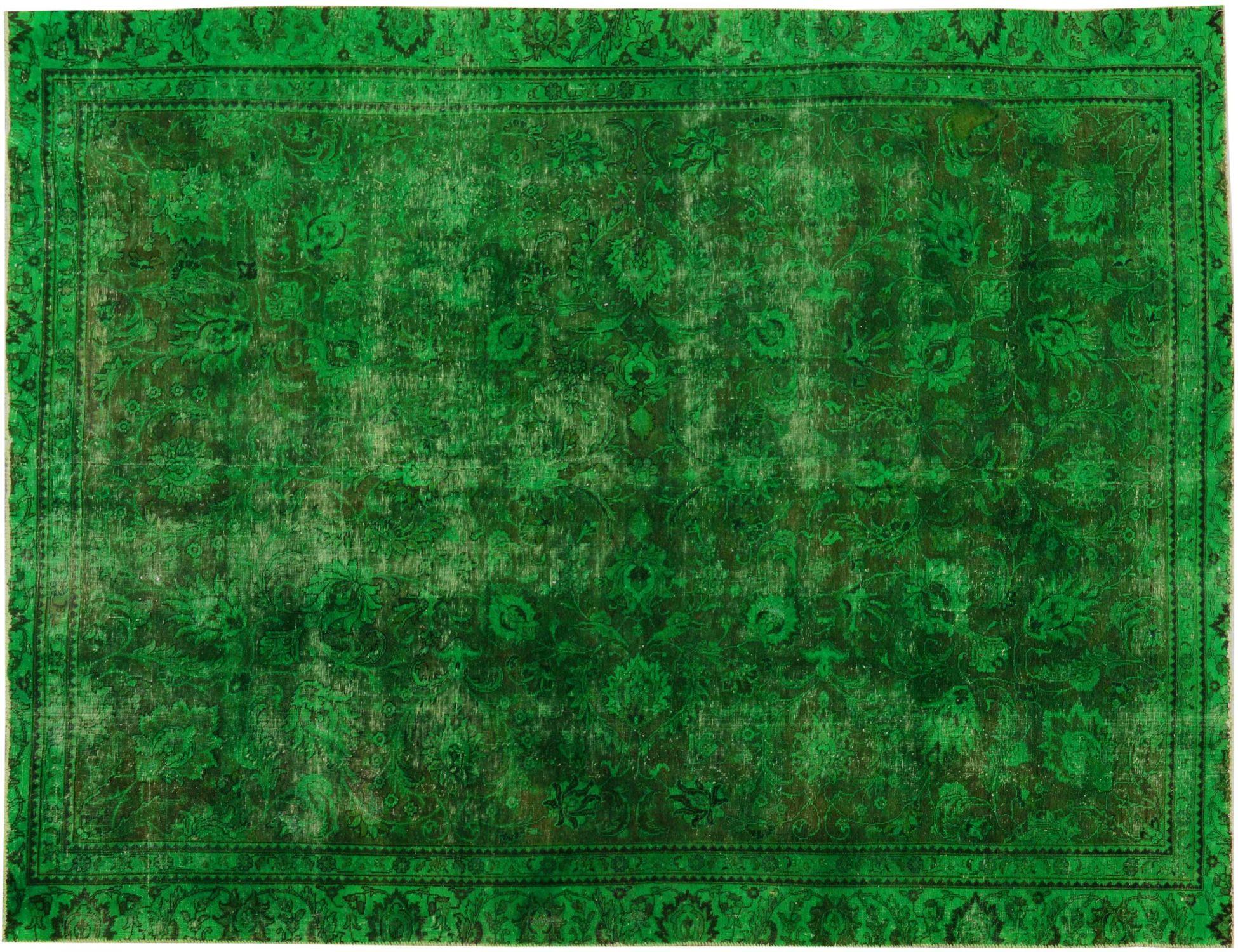 Vintage Teppich  grün <br/>364 x 263 cm