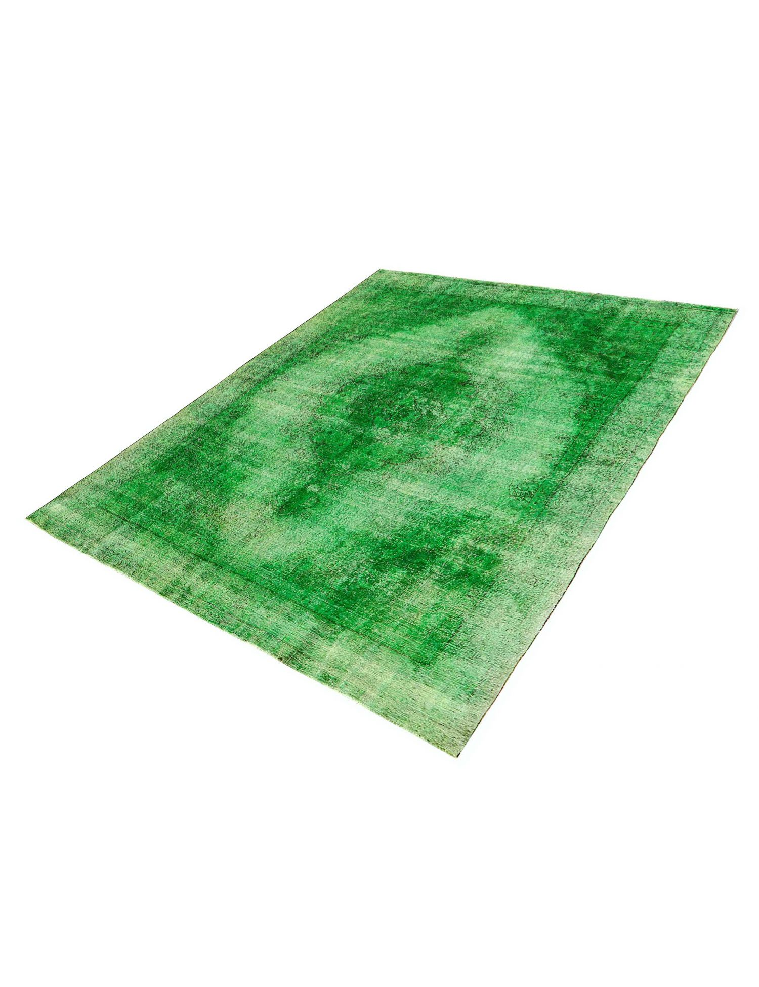 Vintage Teppich  grün <br/>390 x 298 cm