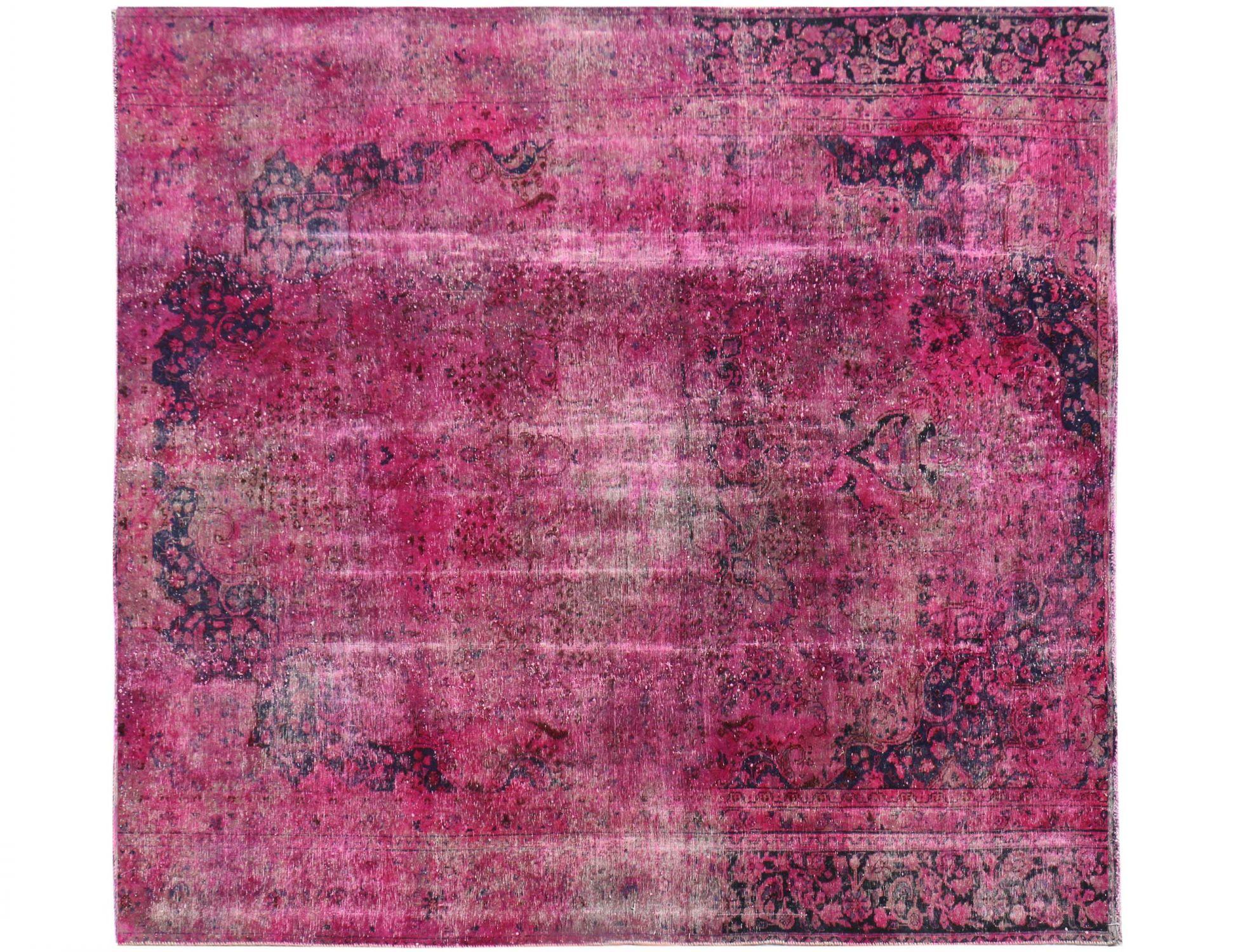 Vintage Perserteppich  rosa <br/>266 x 266 cm