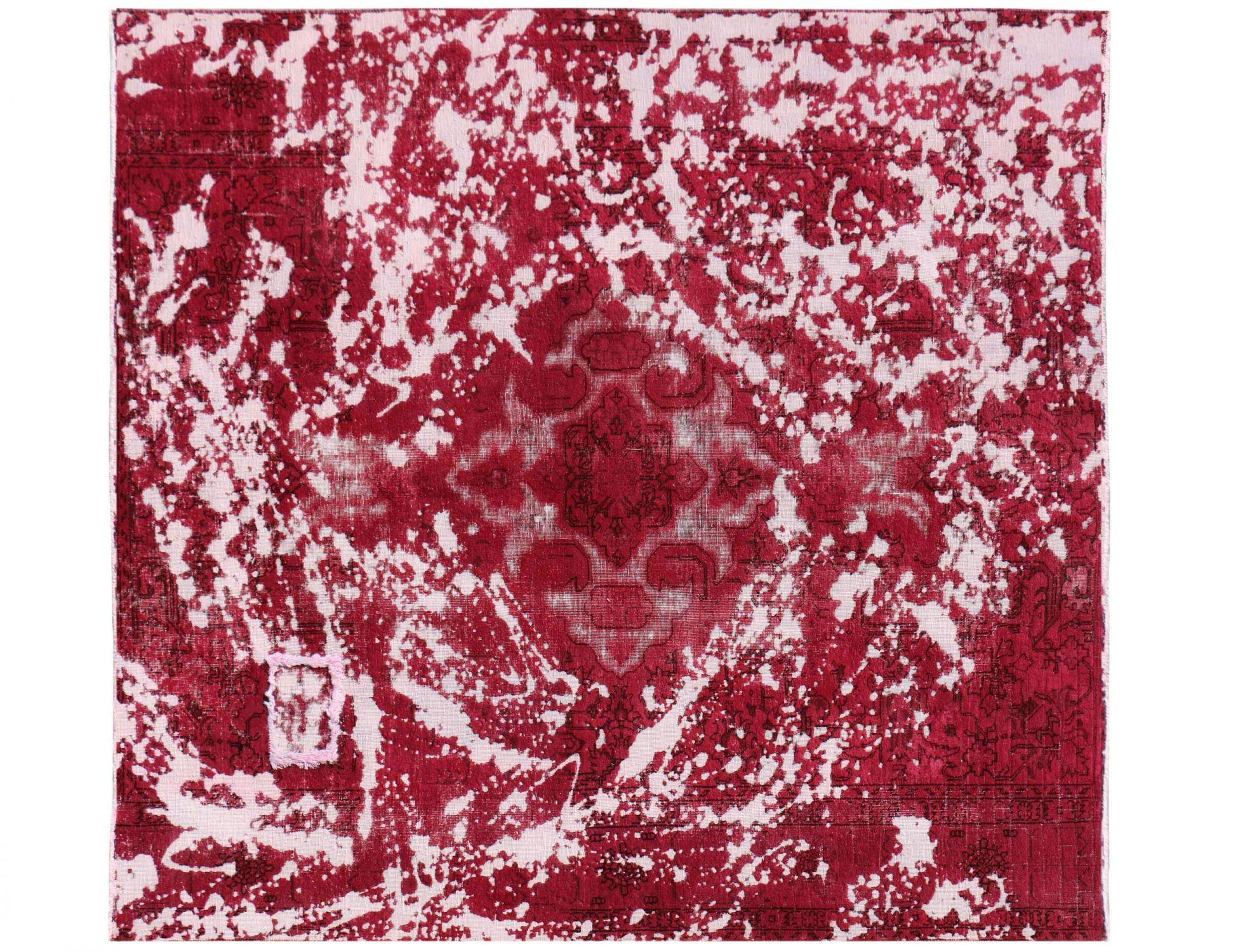 Vintage Teppich  rot <br/>203 x 203 cm
