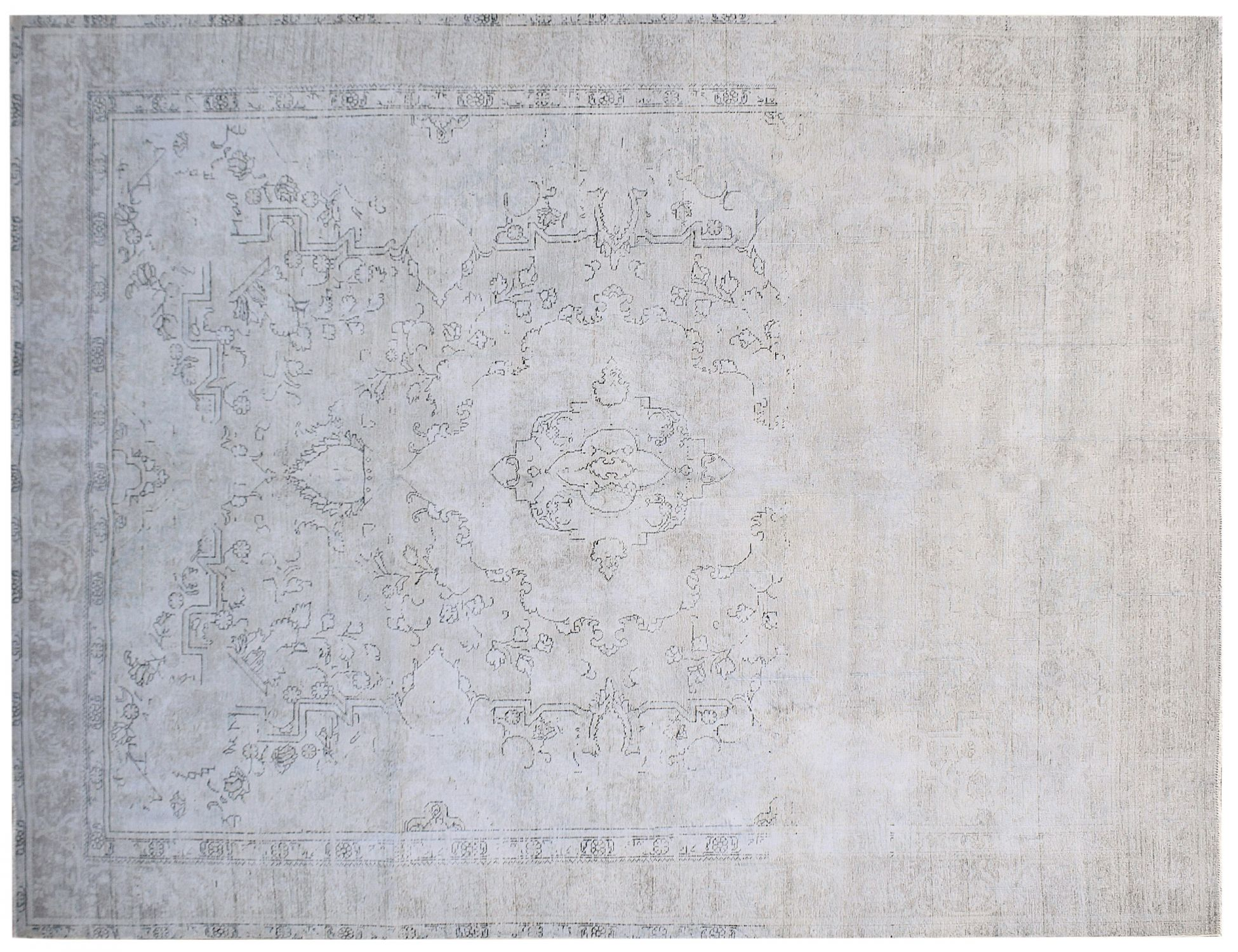 Tappeto Vintage  grigio <br/>383 x 288 cm