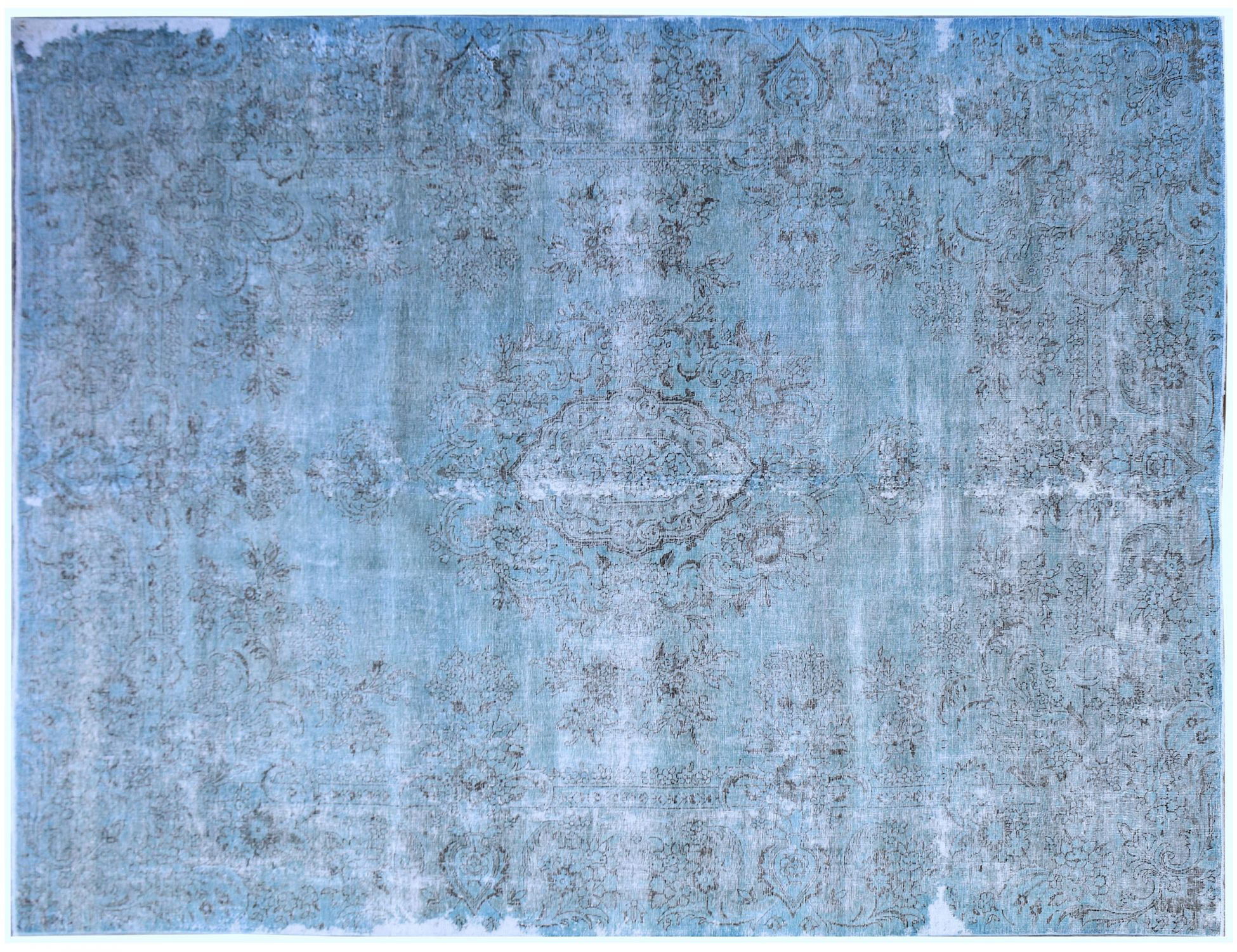 Tappeto Vintage  blu <br/>389 x 289 cm