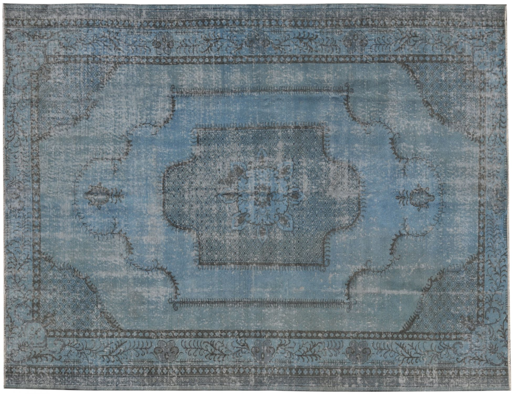 Tappeto Vintage  blu <br/>275 x 205 cm