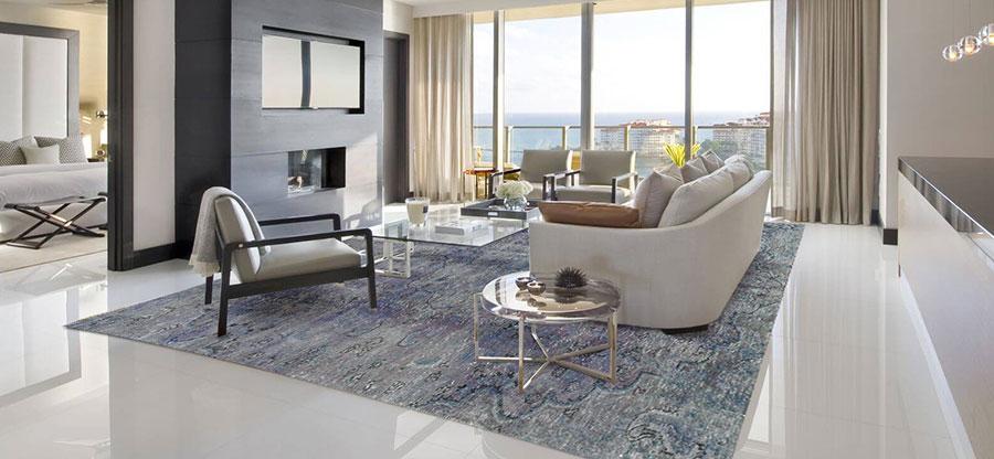 vintage tappeto grigio