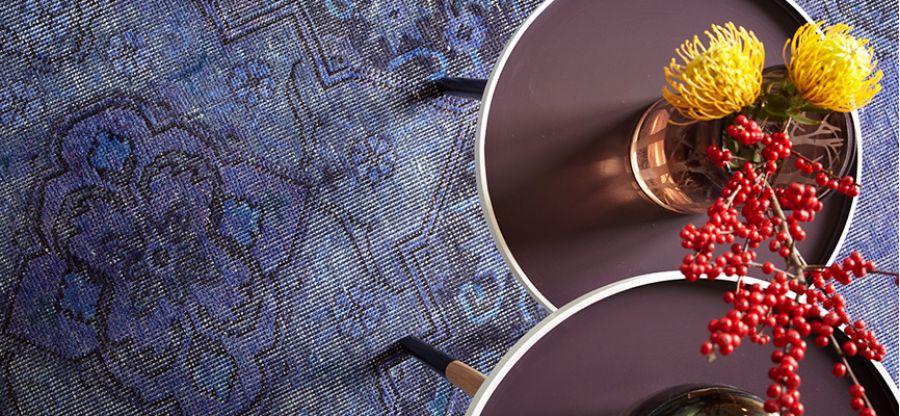 vintage tappeto viola