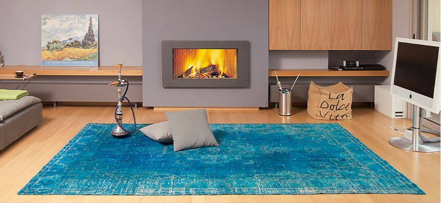 vintage tappeti blu