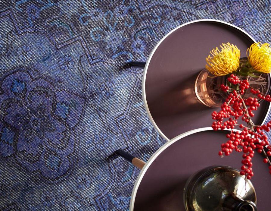 Casa Oskar's Premium Overdyed Purple Vintage Rug