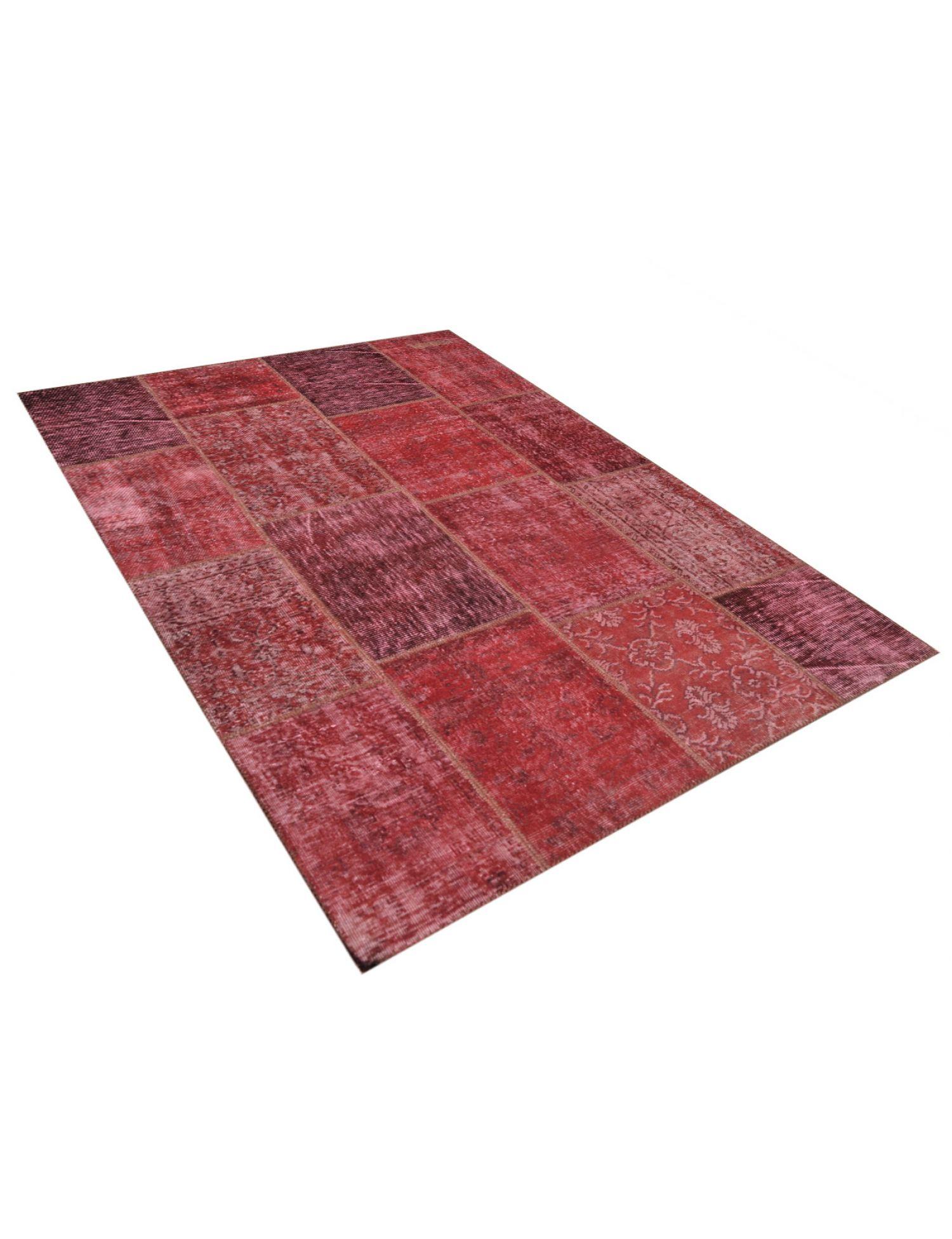 Patchwork Teppich  rot <br/>240 x 170 cm