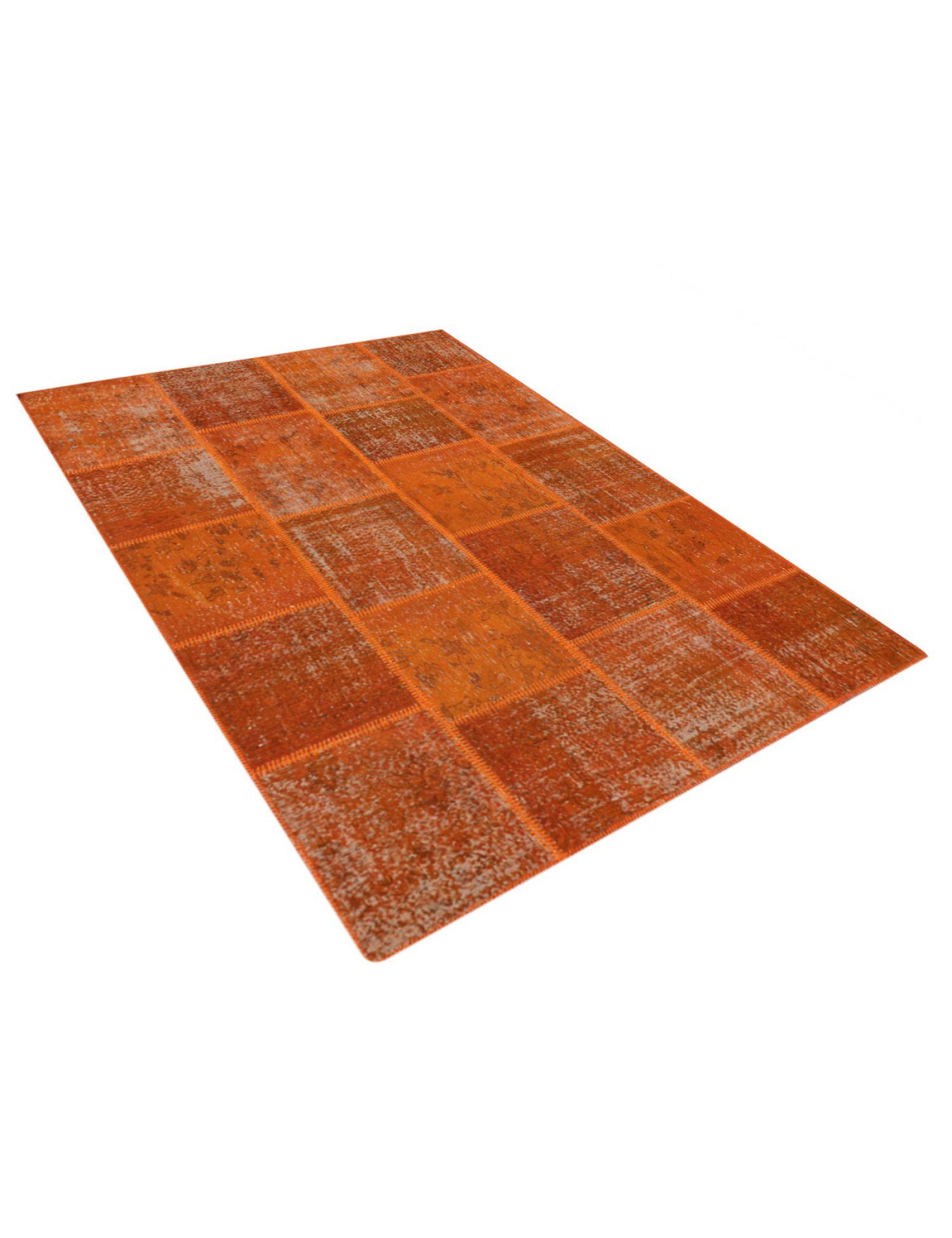 Patchwork Tapis  orange <br/>240 x 170 cm