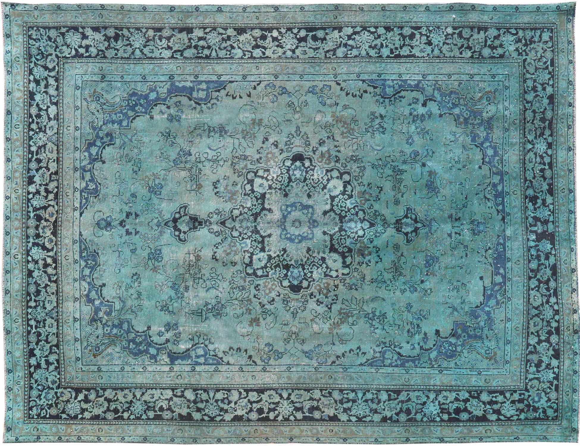Vintage Teppich  blau <br/>370 x 286 cm