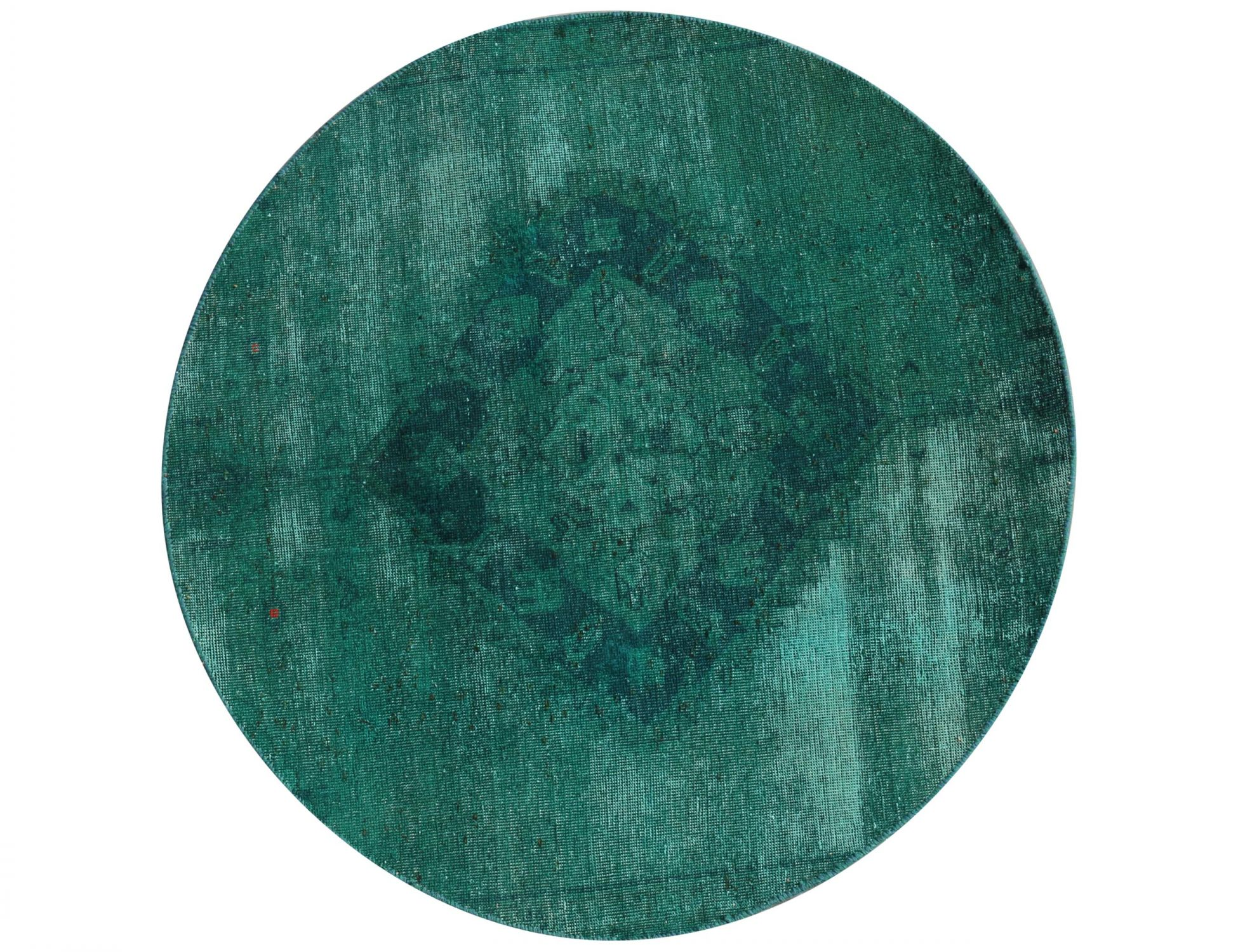 Tappeto Vintage  verde <br/>130 x 130 cm