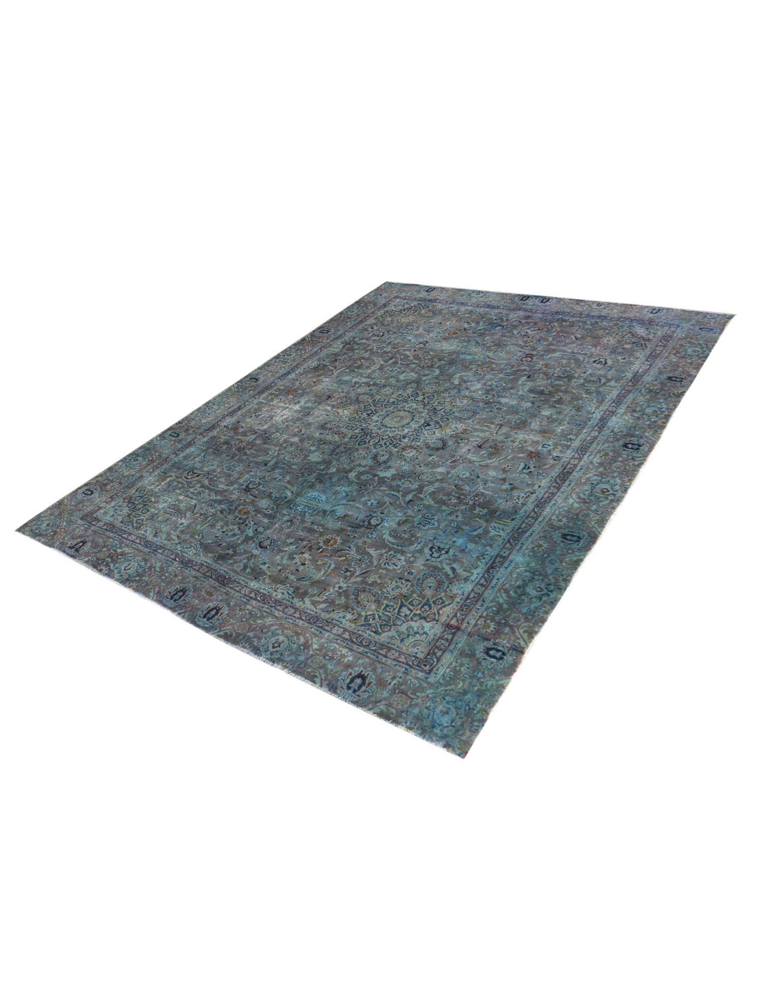 Retro Perserteppich  blau <br/>350 x 264 cm