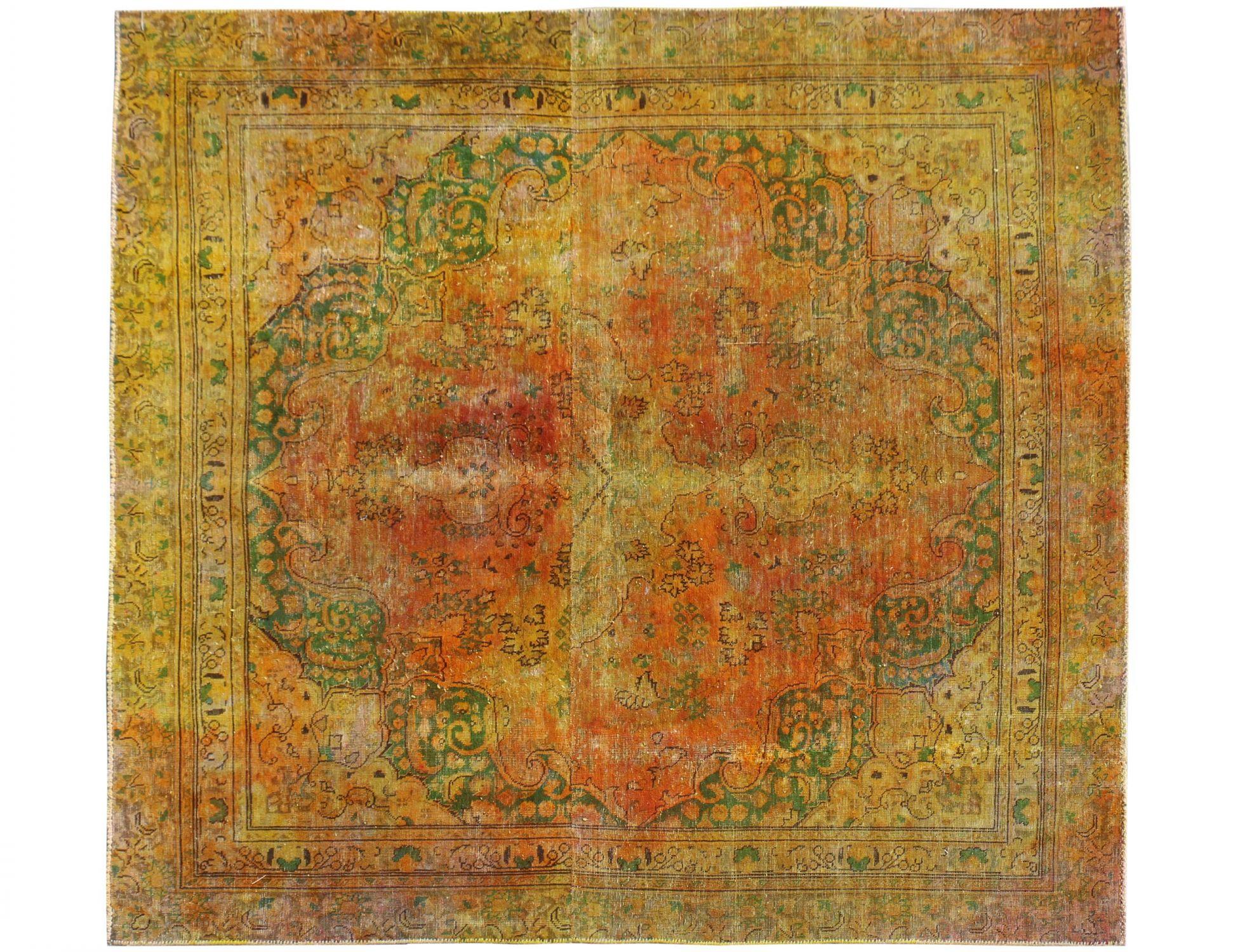 Vintage Perserteppich  gelb <br/>212 x 198 cm