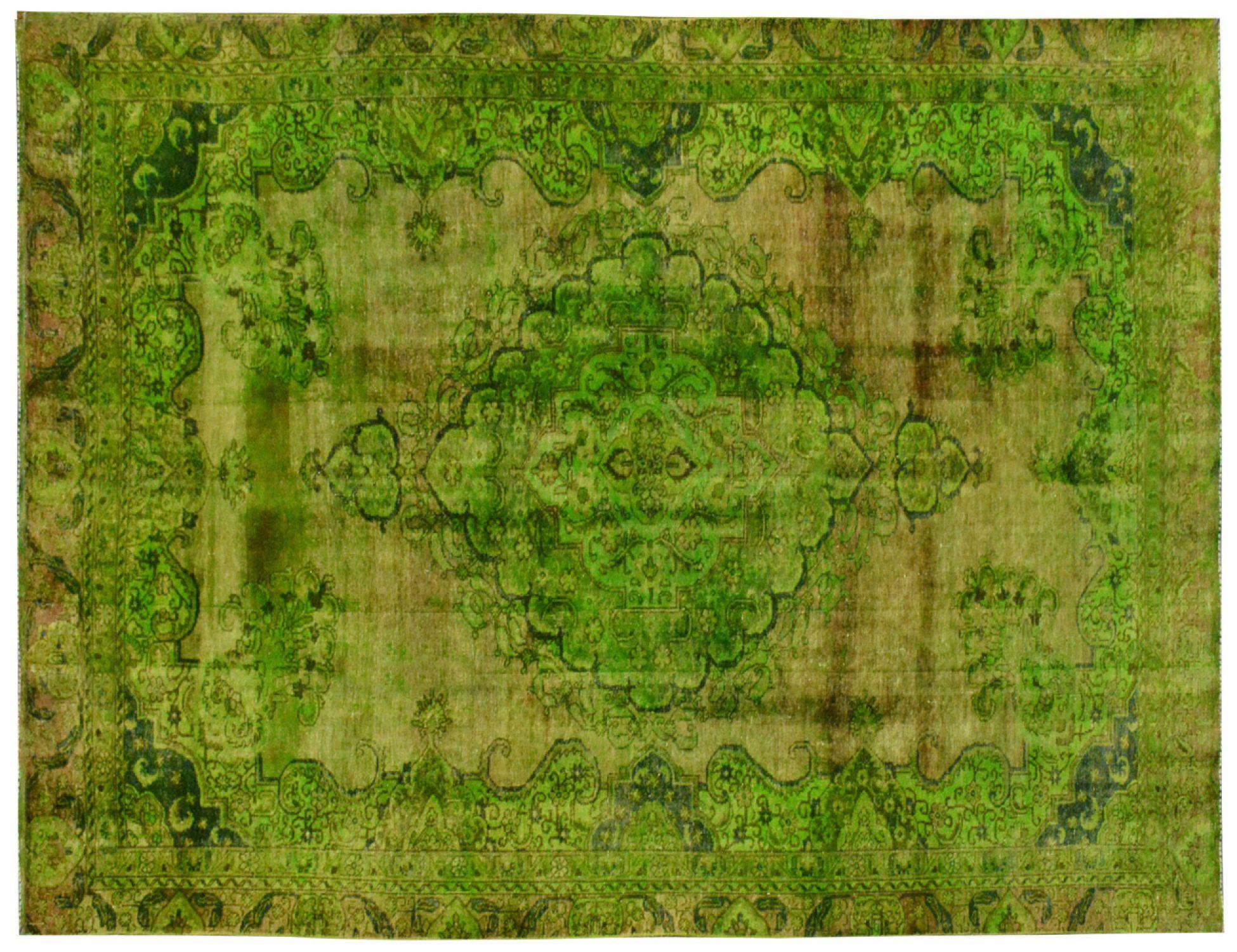 Vintage Teppich  grün <br/>444 x 243 cm
