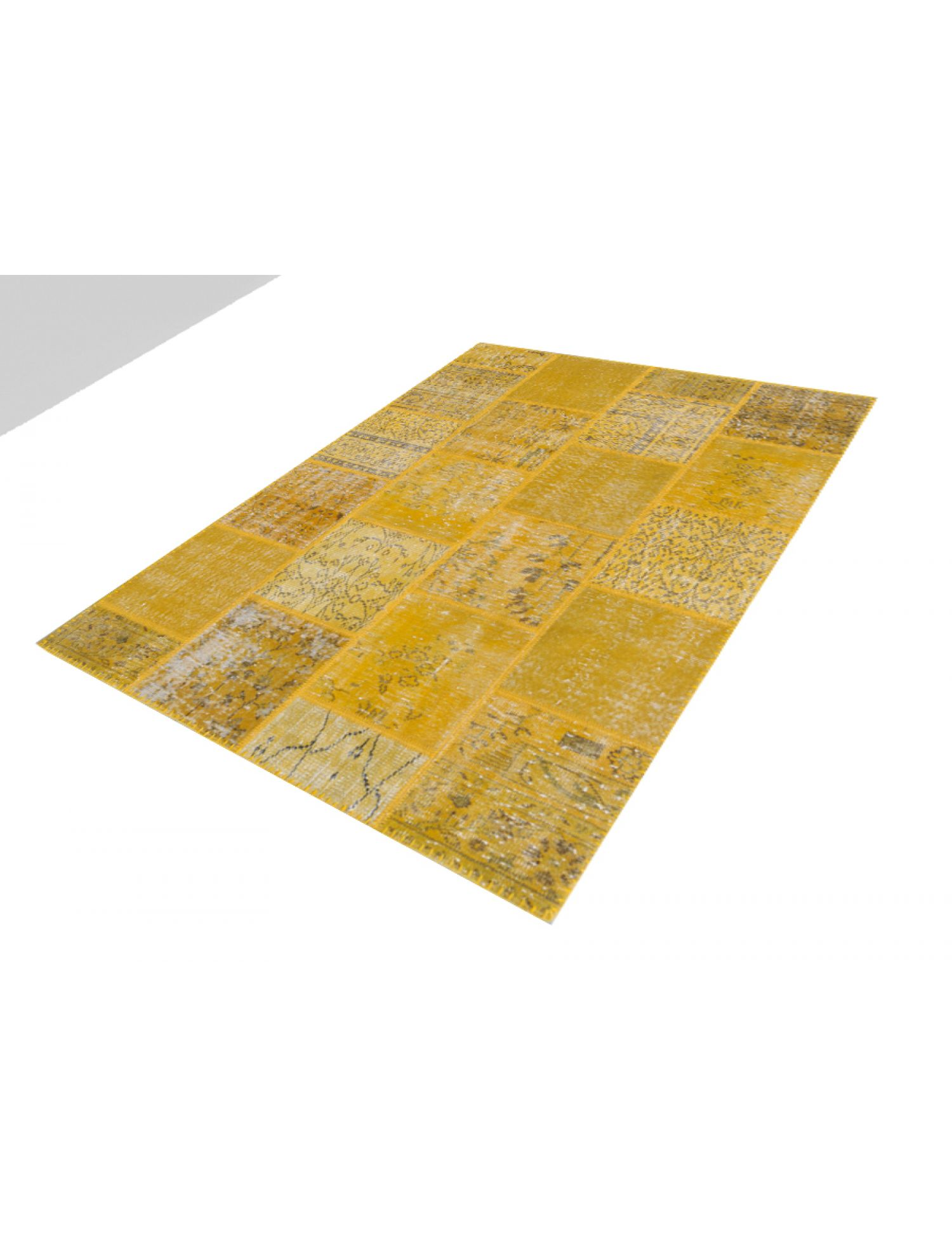 Tappeto Patchwork  giallo <br/>198 x 158 cm