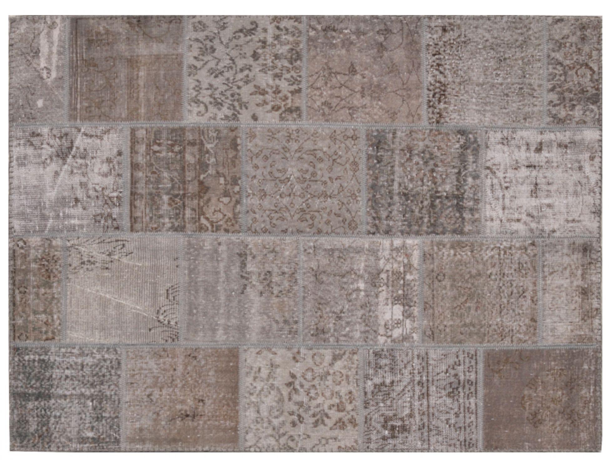 Tappeto Patchwork  grigo <br/>199 x 159 cm
