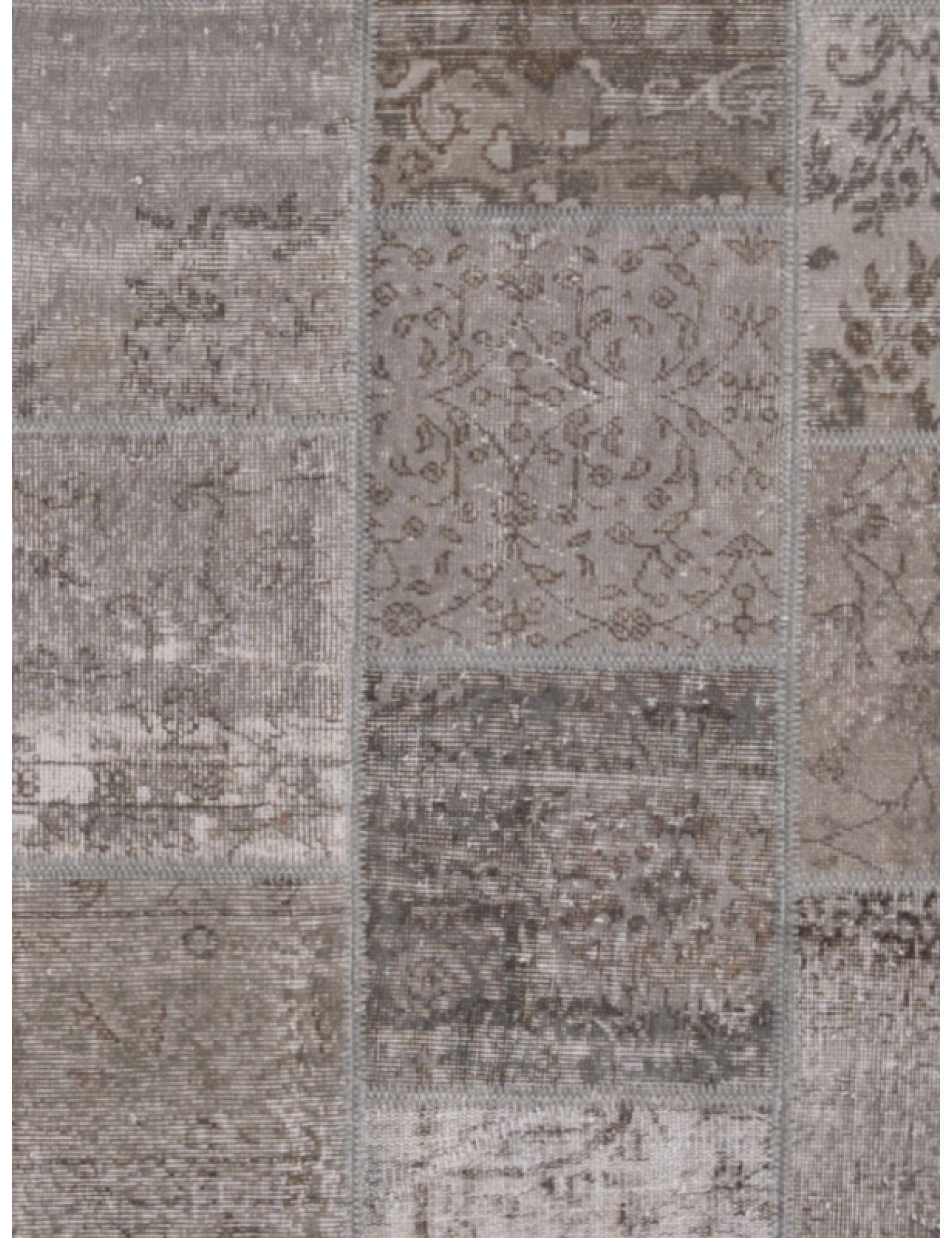 Tappeto Patchwork  grigio <br/>199 x 159 cm