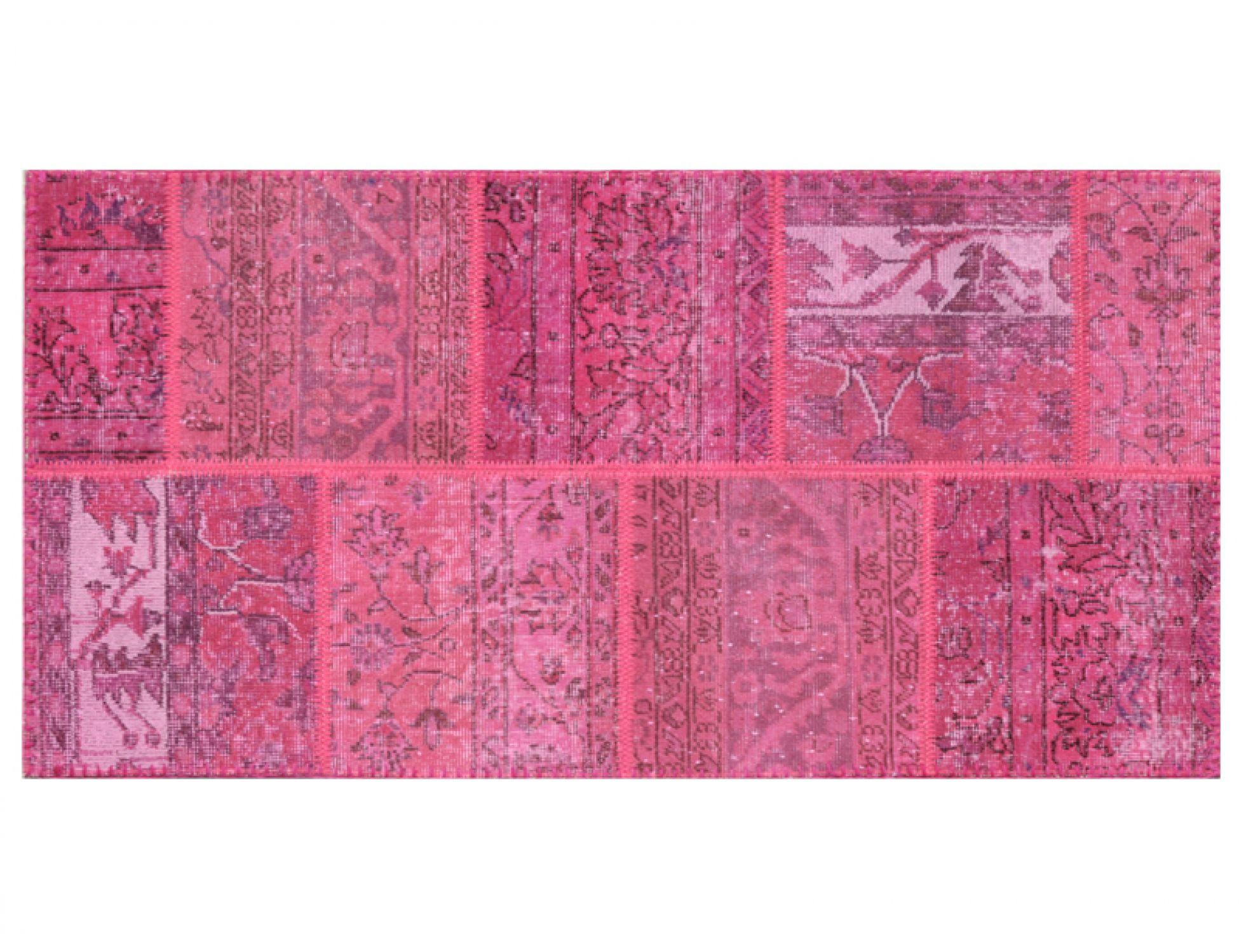 Tappeto Patchwork  viola <br/>160 x 80 cm