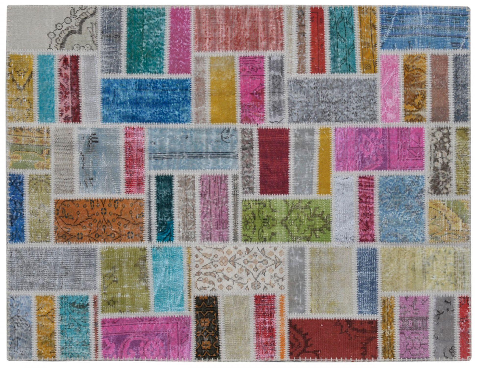 Tappeto Patchwork   multicolore <br/>200 x 150 cm