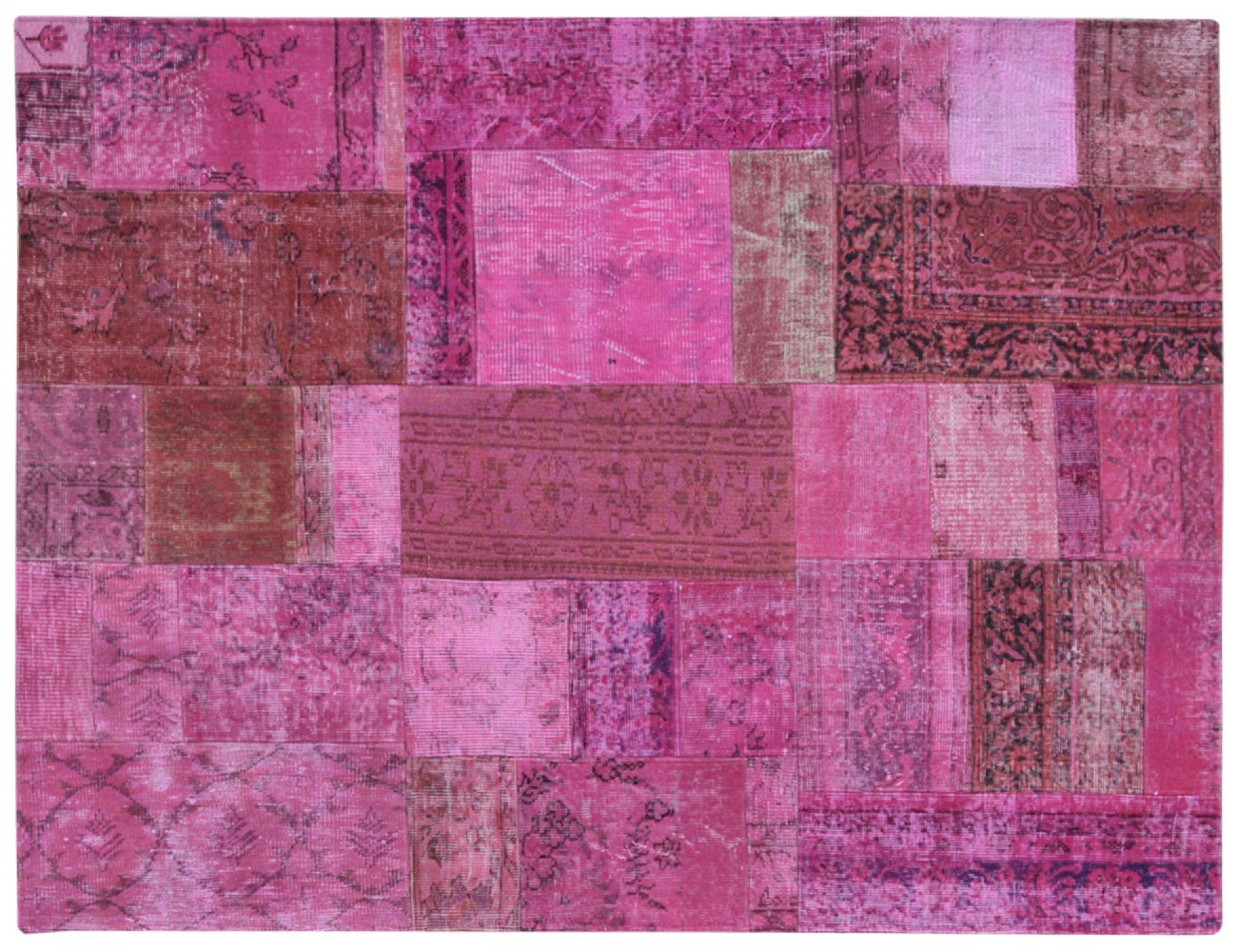 Patchwork Tappeto  viola <br/>202 x 150 cm
