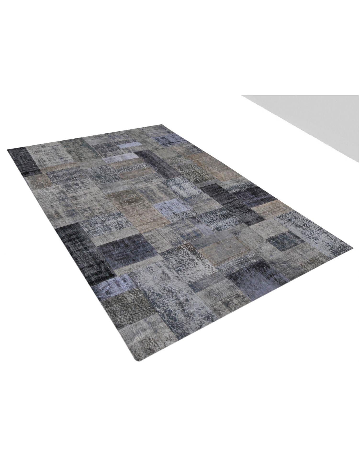 Patchwork Tæppe  sort <br/>302 x 203 cm
