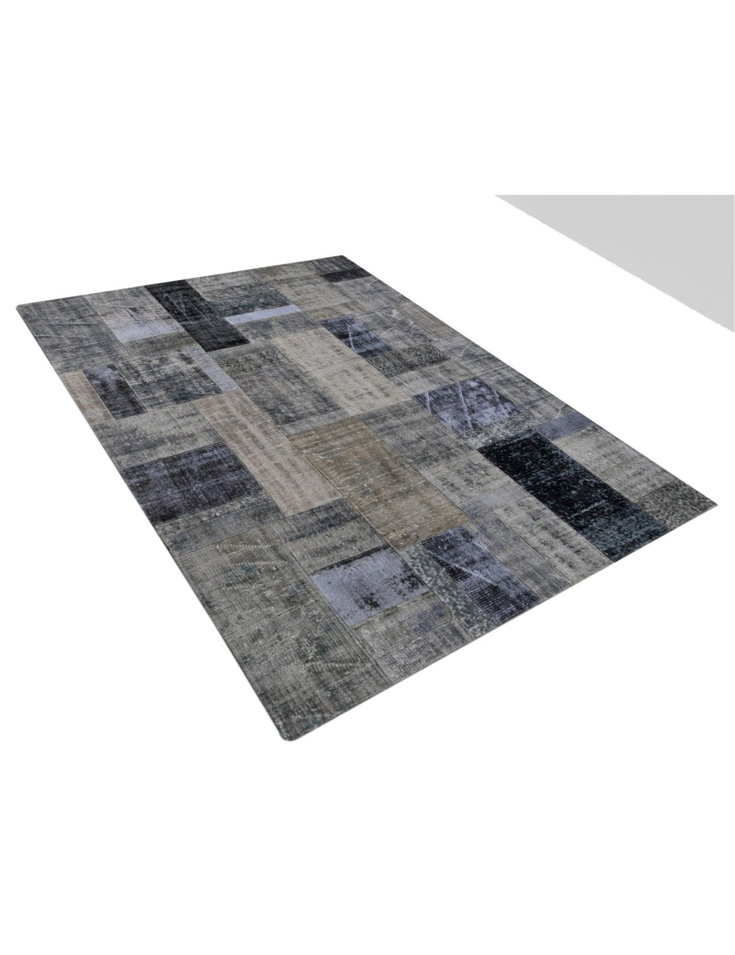 Patchwork Carpet   grey <br/>241 x 173 cm