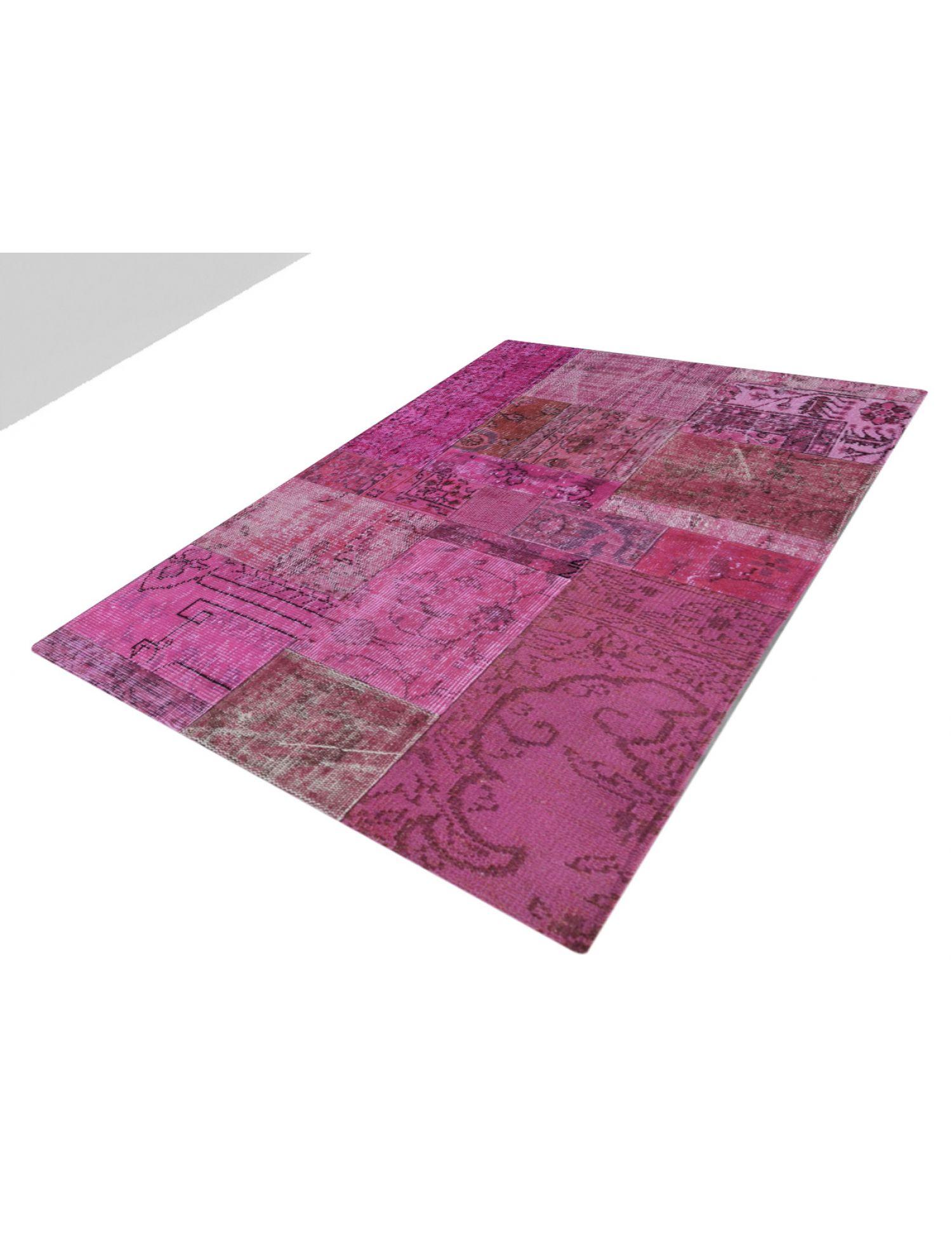 Patchwork Carpet   purple <br/>152 x 98 cm