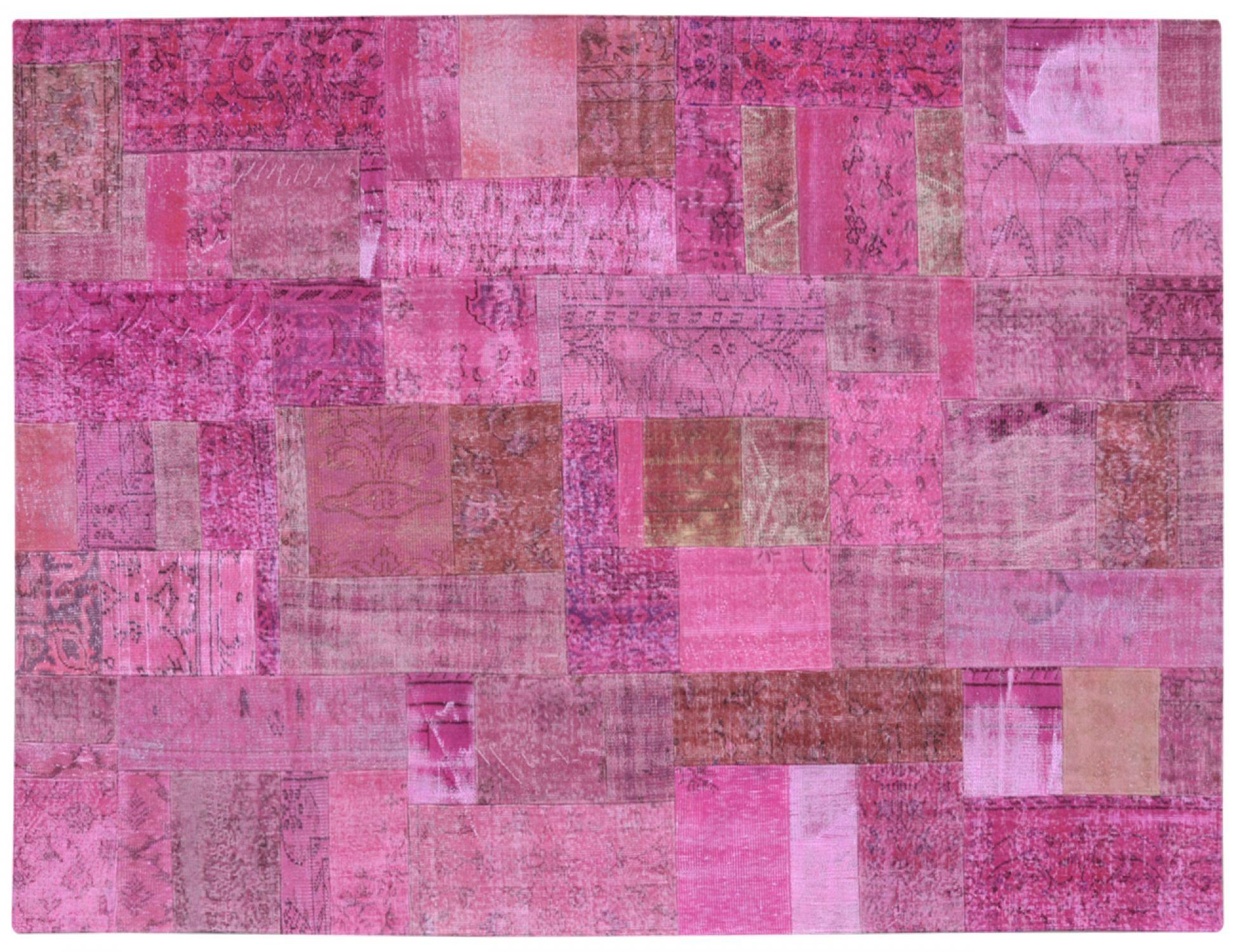 Patchwork Matta  lila <br/>302 x 204 cm