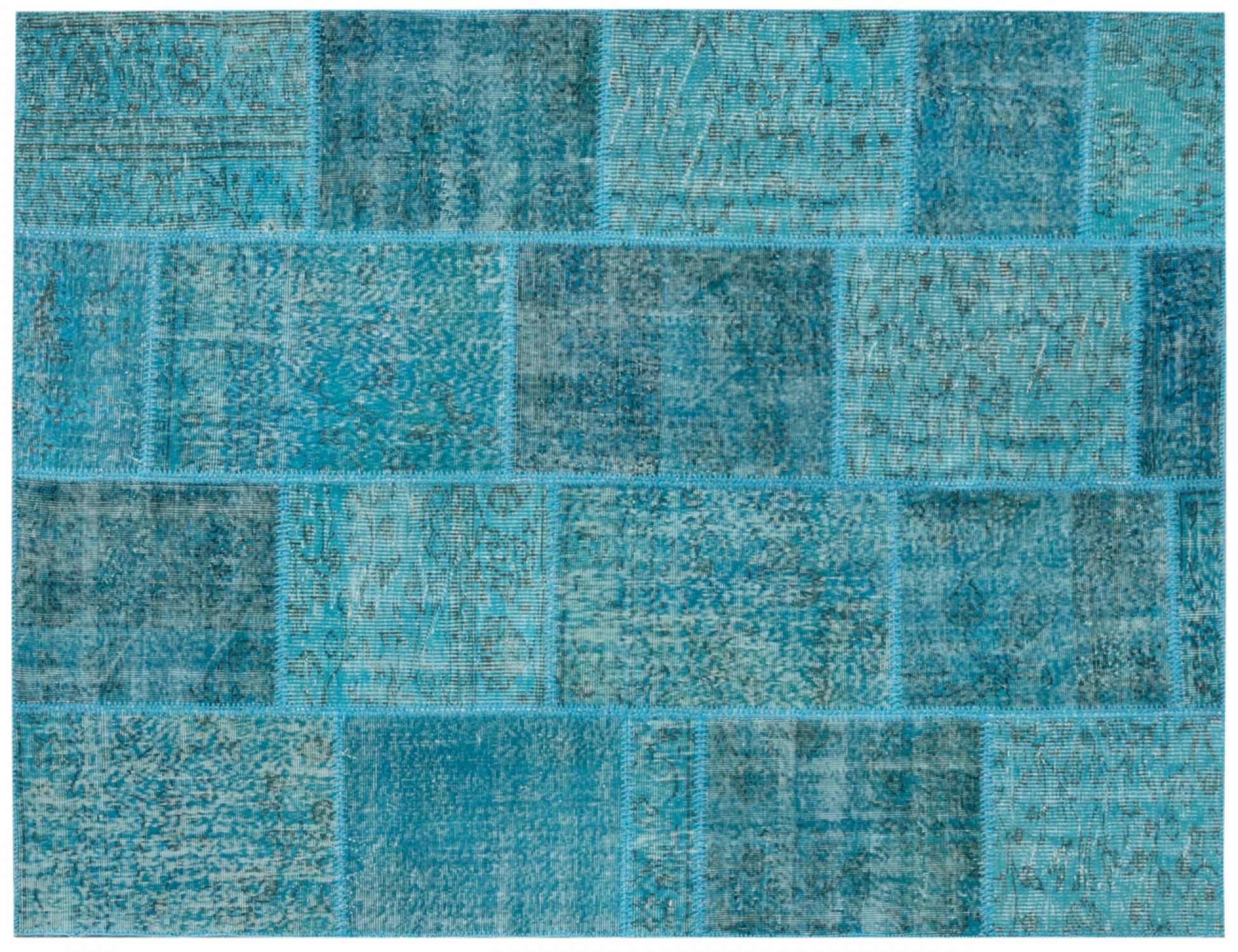Tappeto Patchwork   blu <br/>240 x 170 cm