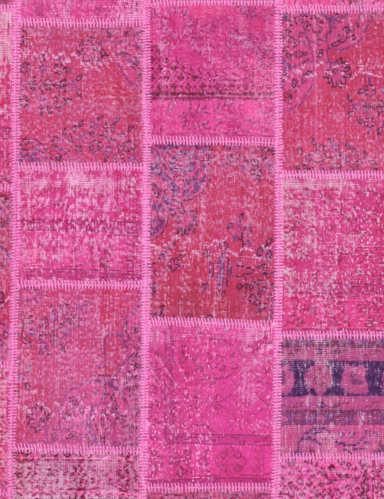 Patchwork Teppich  lila <br/>240 x 170 cm