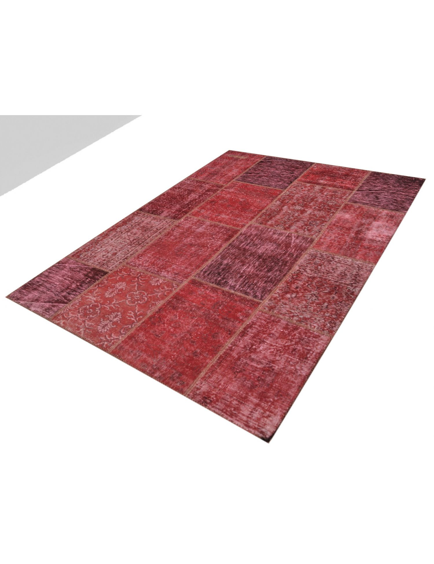 Patchwork Carpet  red <br/>240 x 170 cm