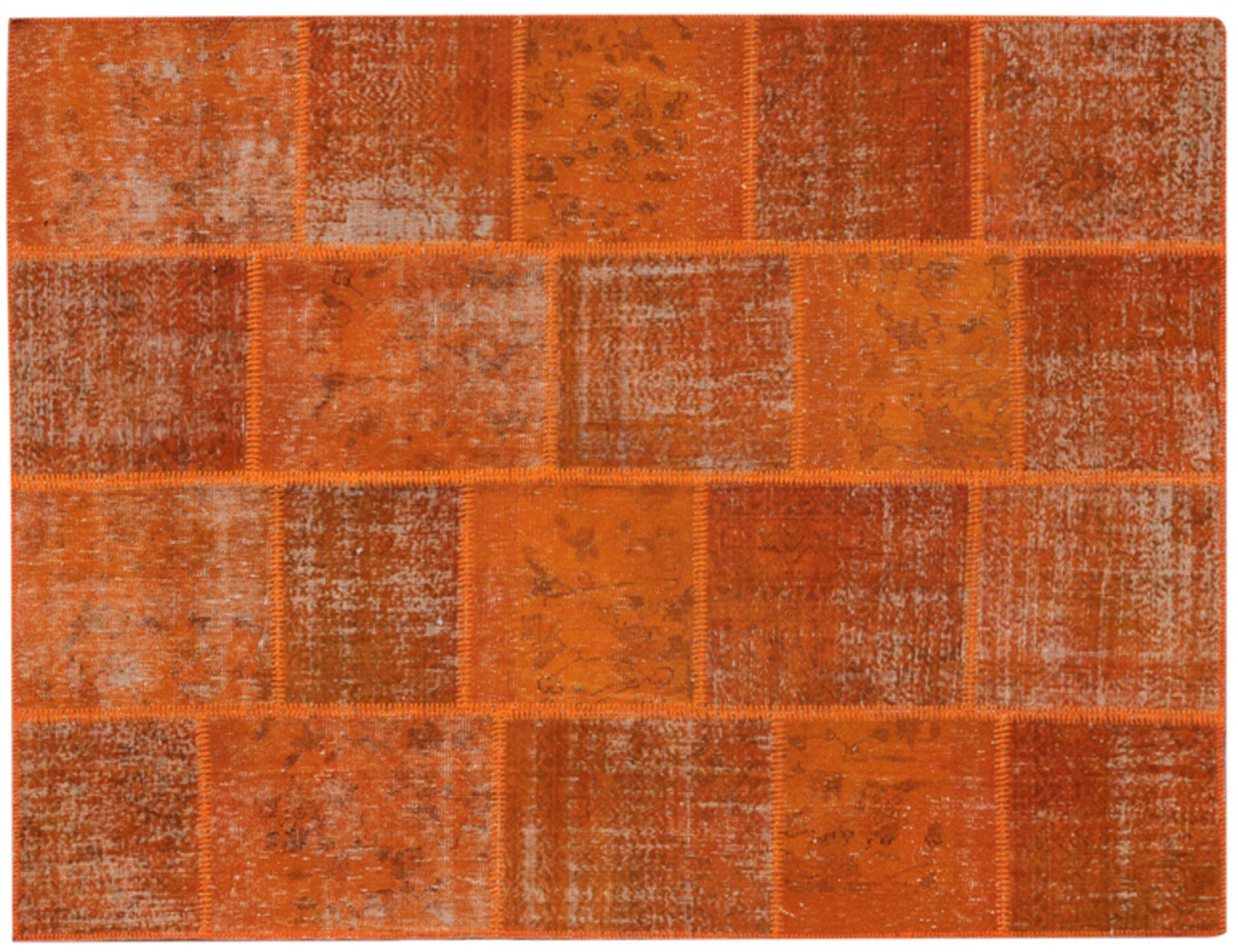Patchwork Tæppe  orange <br/>240 x 170 cm
