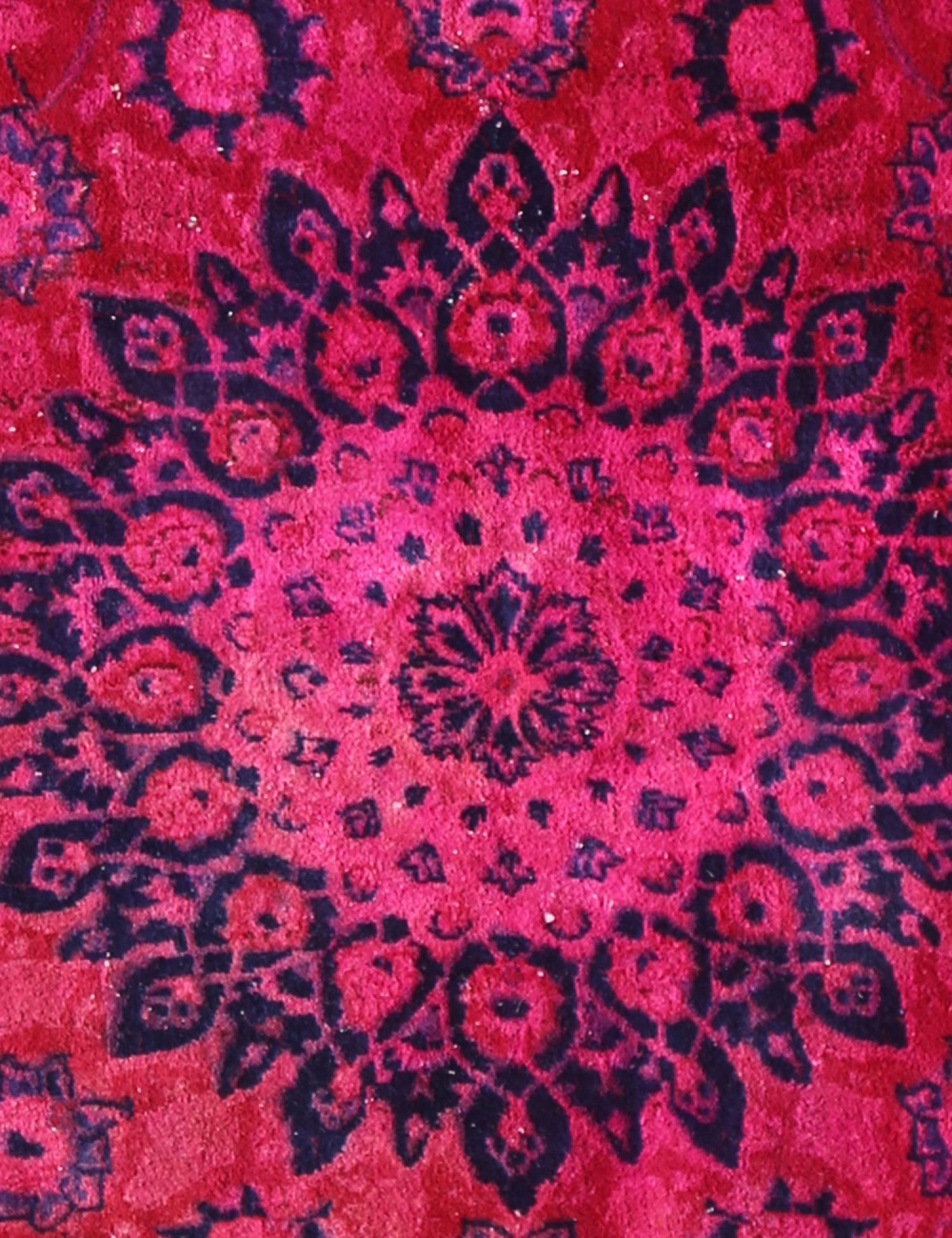 Vintage Teppich  rot <br/>230 x 187 cm