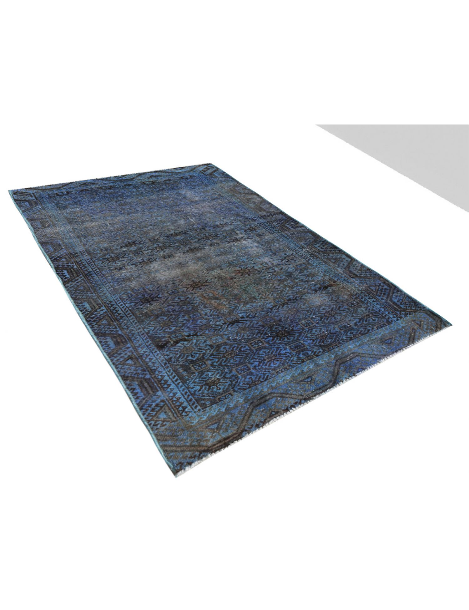 Tappeto Vintage  blu <br/>236 x 120 cm