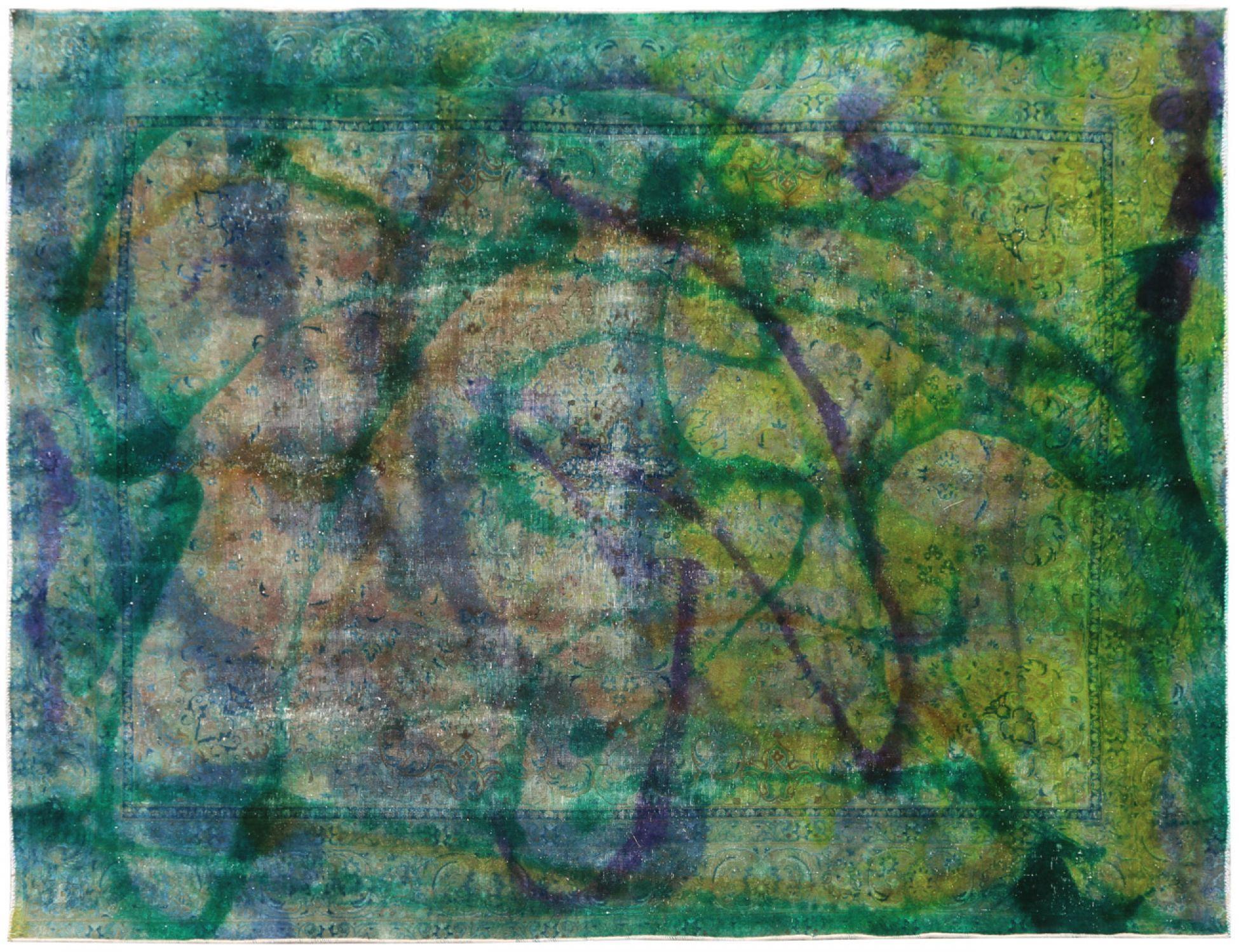 Vintage Teppich  grün <br/>360 x 270 cm