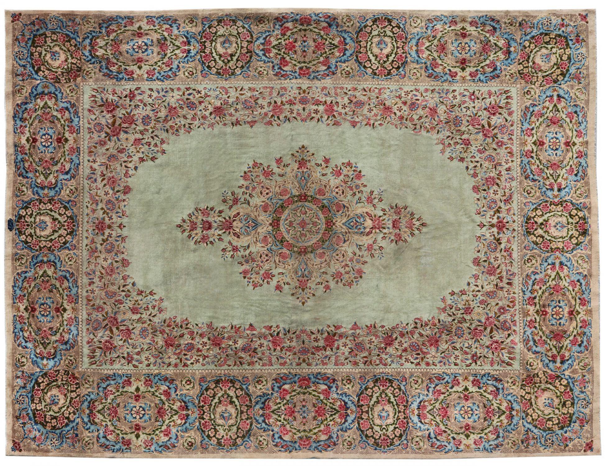 Retro Teppich  blau <br/>546 x 361 cm