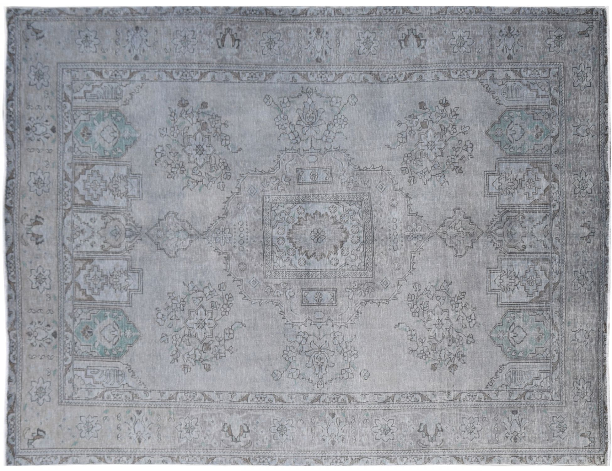 Tappeto Vintage  grigio <br/>275 x 201 cm