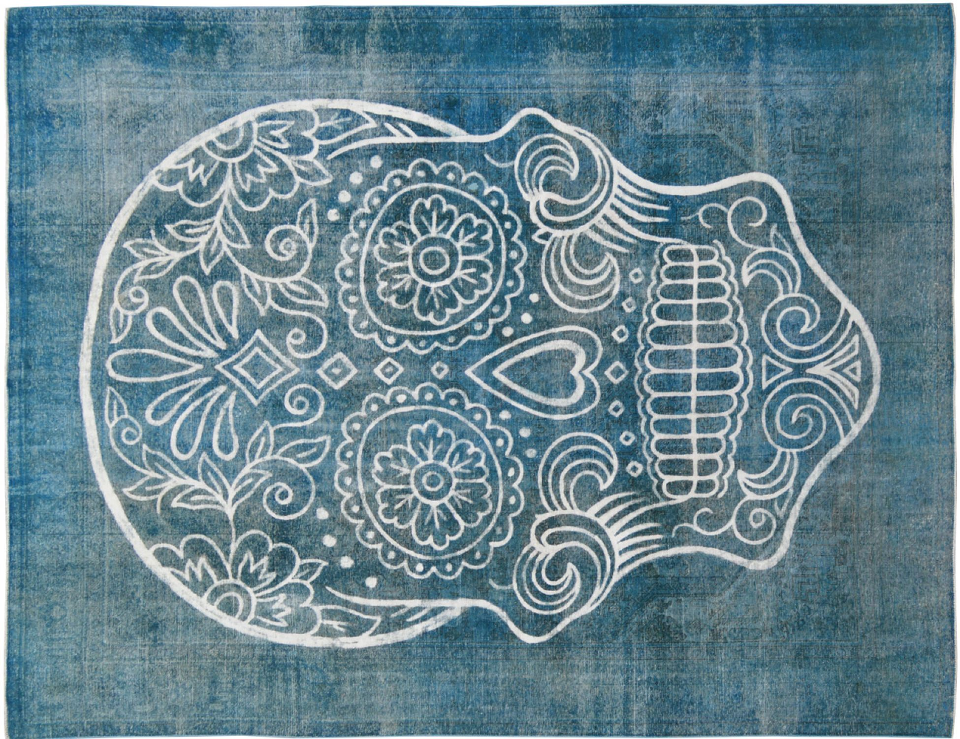 Tapis Vintage  bleu <br/>378 x 300 cm