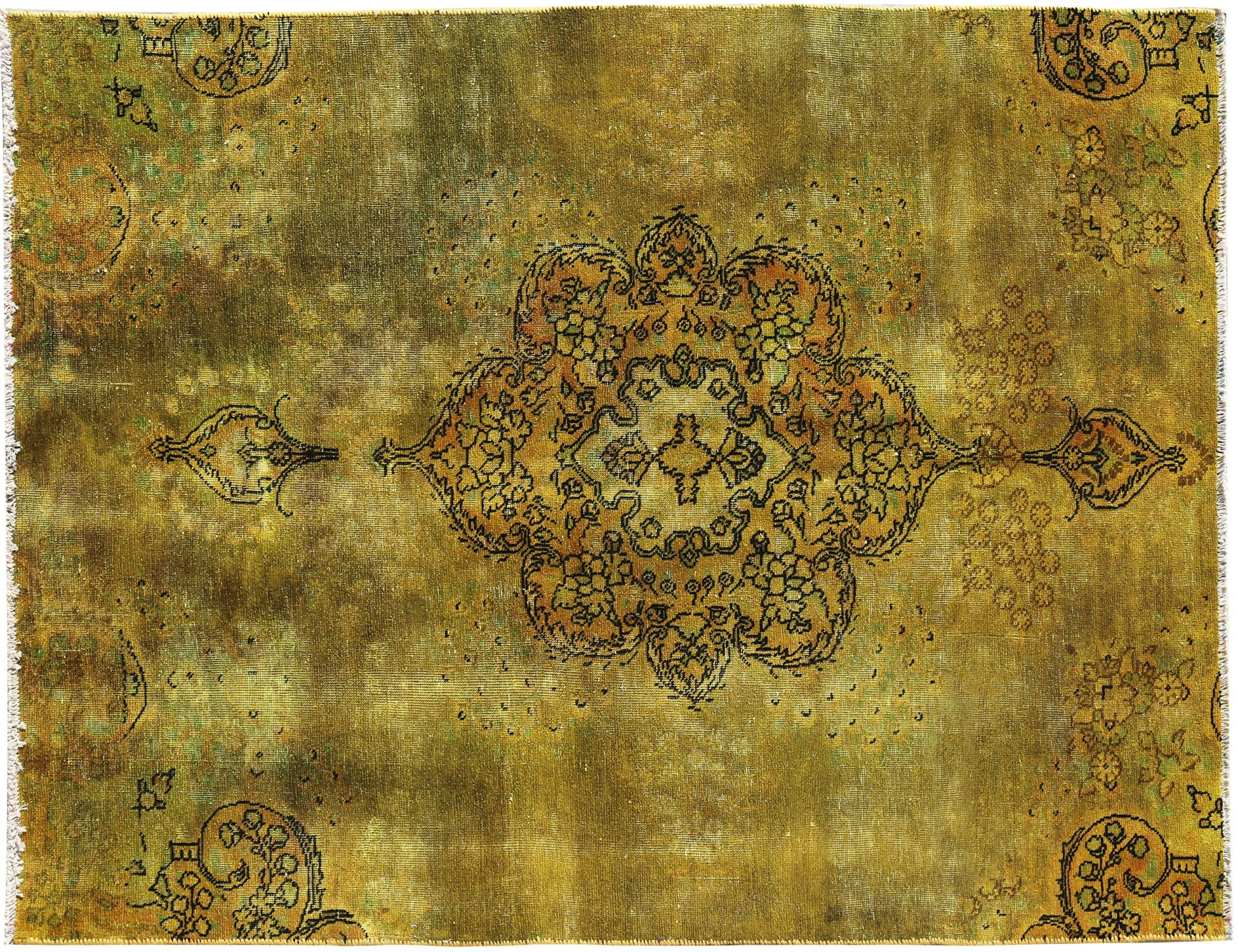 Tappeto Vintage  giallo <br/>235 x 156 cm