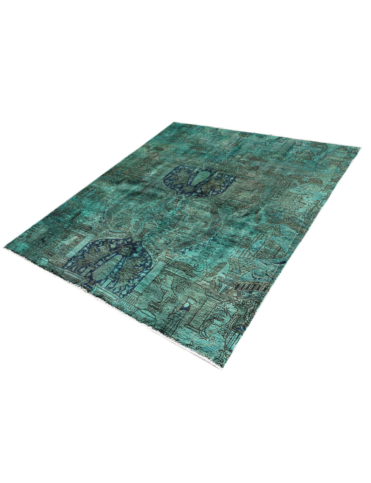 Tappeto Vintage  verde <br/>222 x 187 cm